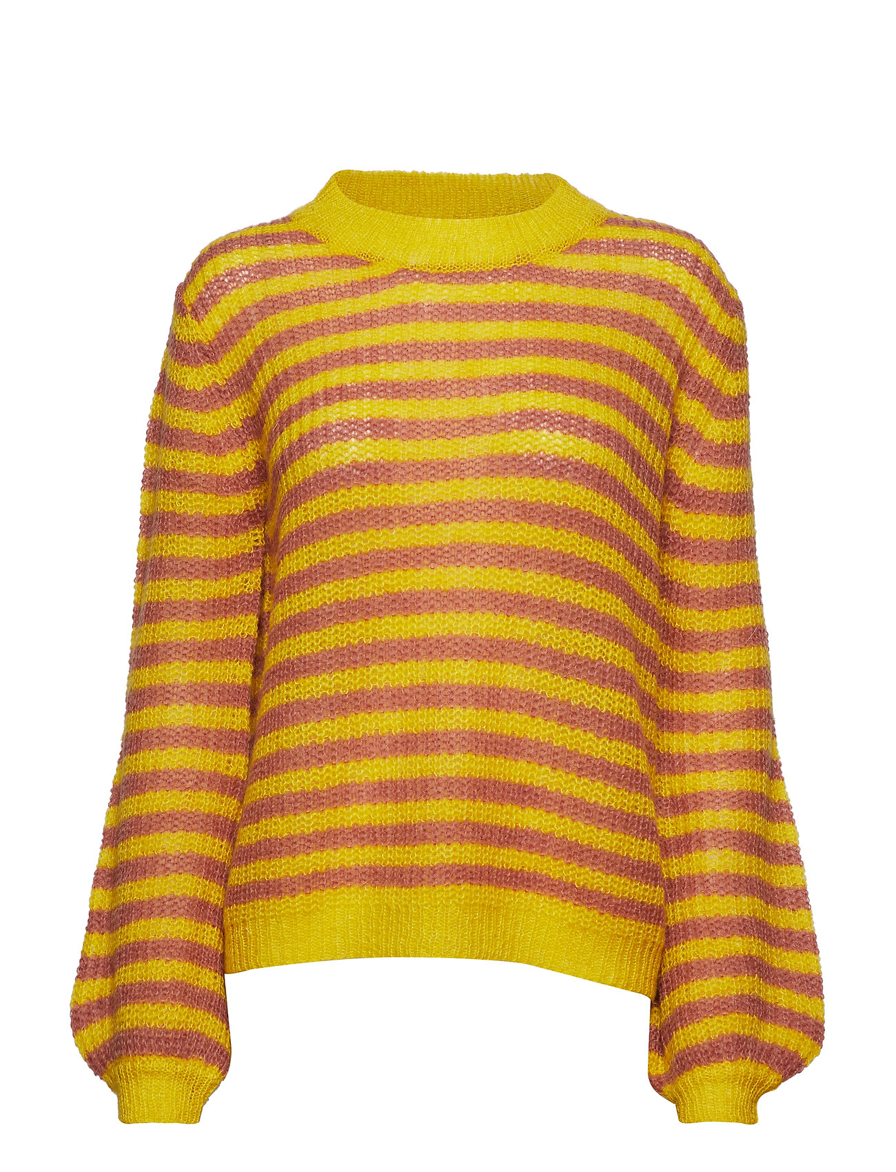 Coster Copenhagen Sweater in mohair w. stripes and vo - CANYON ROSE STRIPES