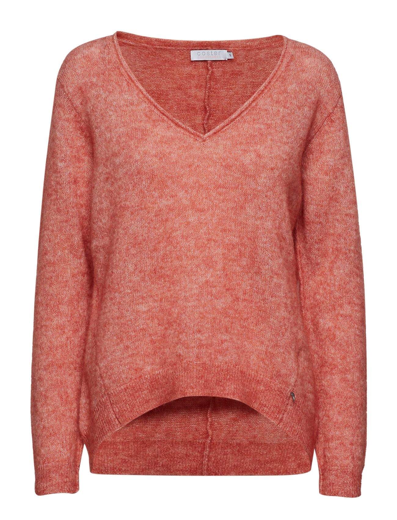 Coster Copenhagen Sweater w. v-neck in crystal mohair - CANYON ROSE