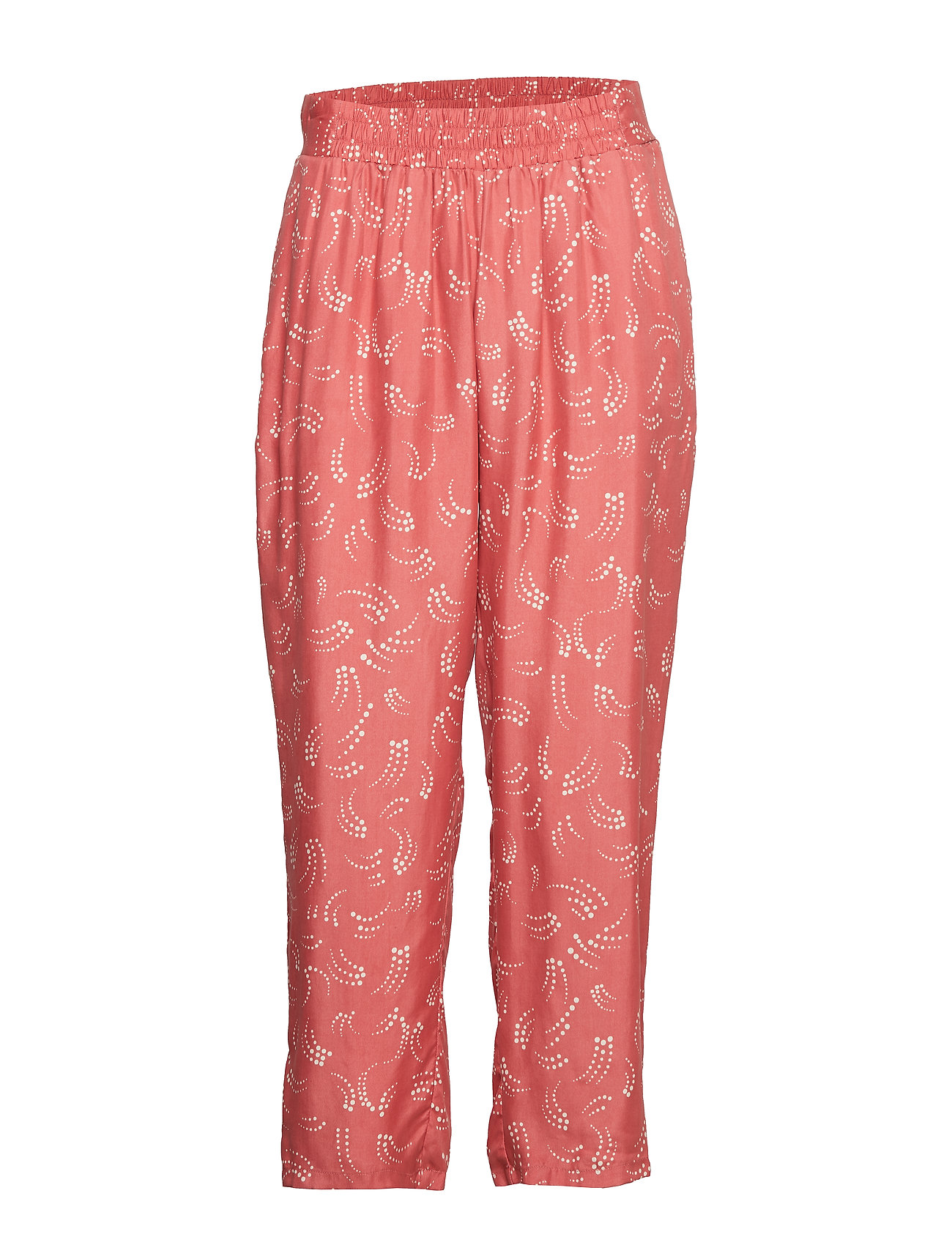 Coster Copenhagen Pants in dot print w. elastic waist - CANYON ROSE