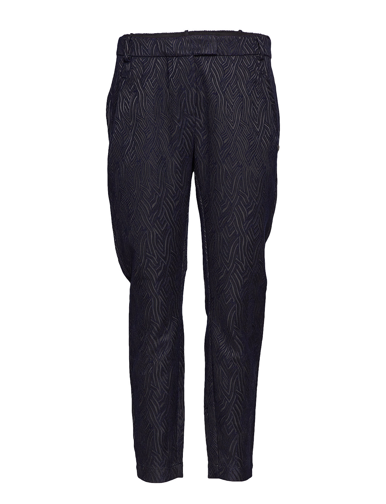 Coster Copenhagen Pants in wave jacquard stretch - Ju - BLACK