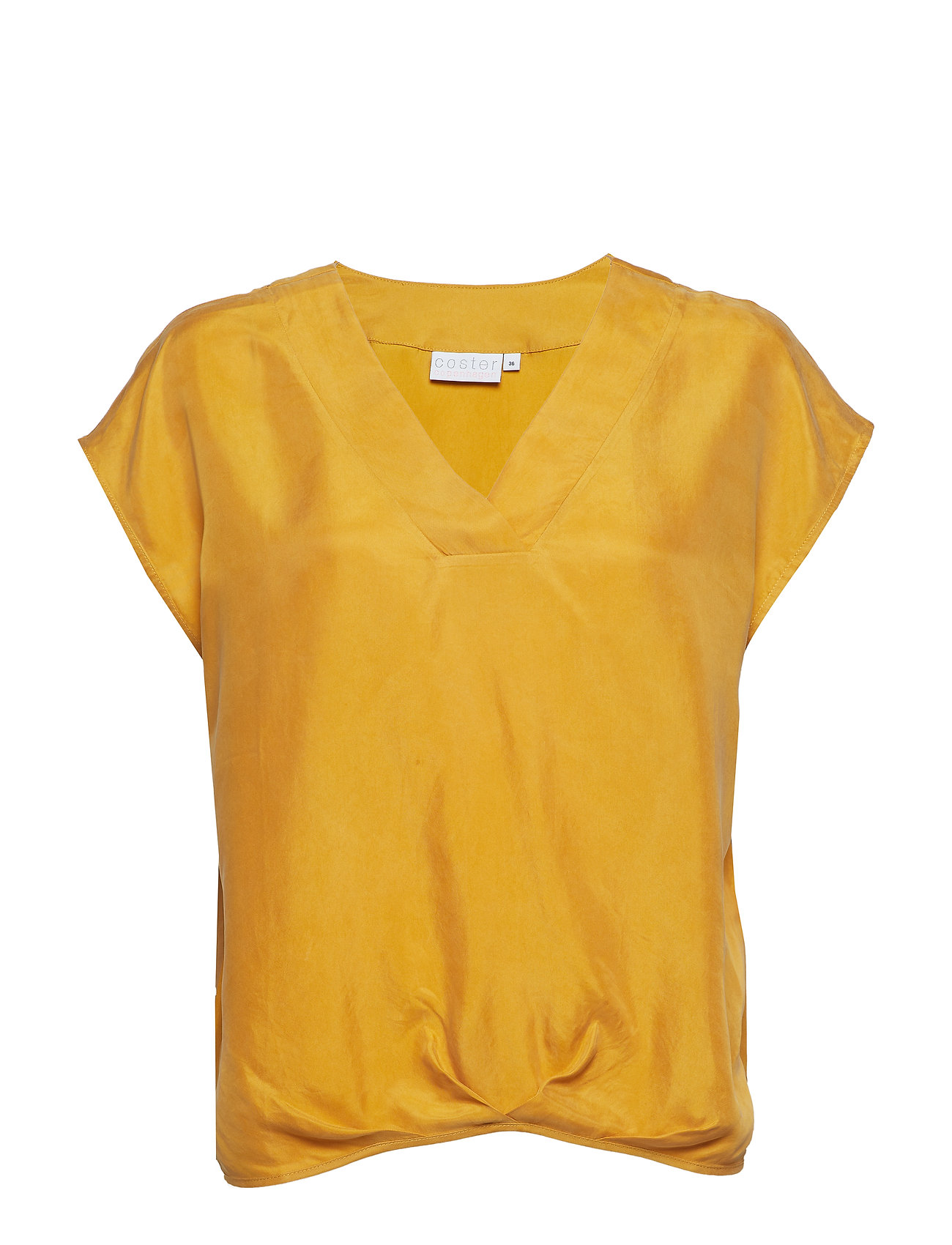 Coster Copenhagen Top w. pleating details at hem - GOLD SPICE