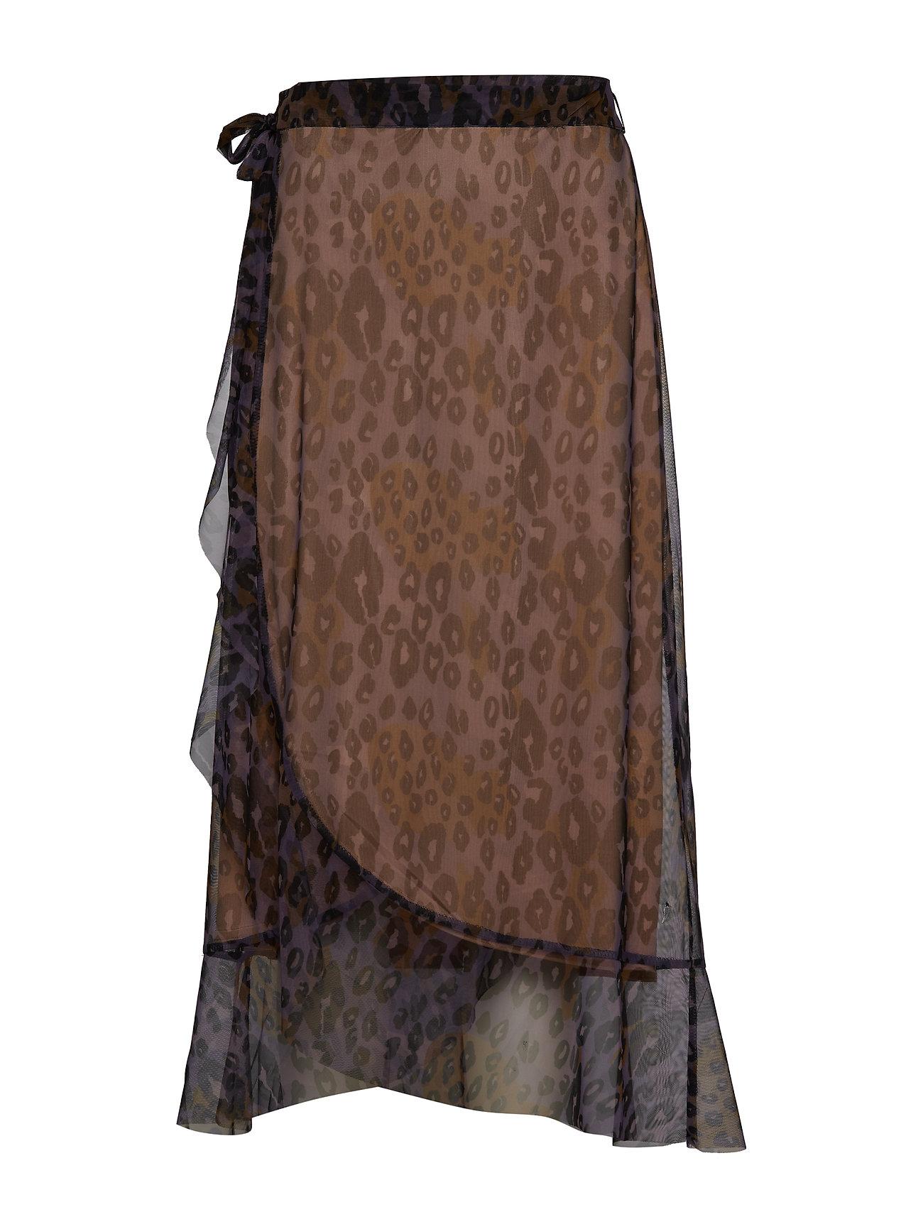 afd9e432820f Skirt In Tiger Print W. Wrap Effect (Purple Leopard Print) (99 ...