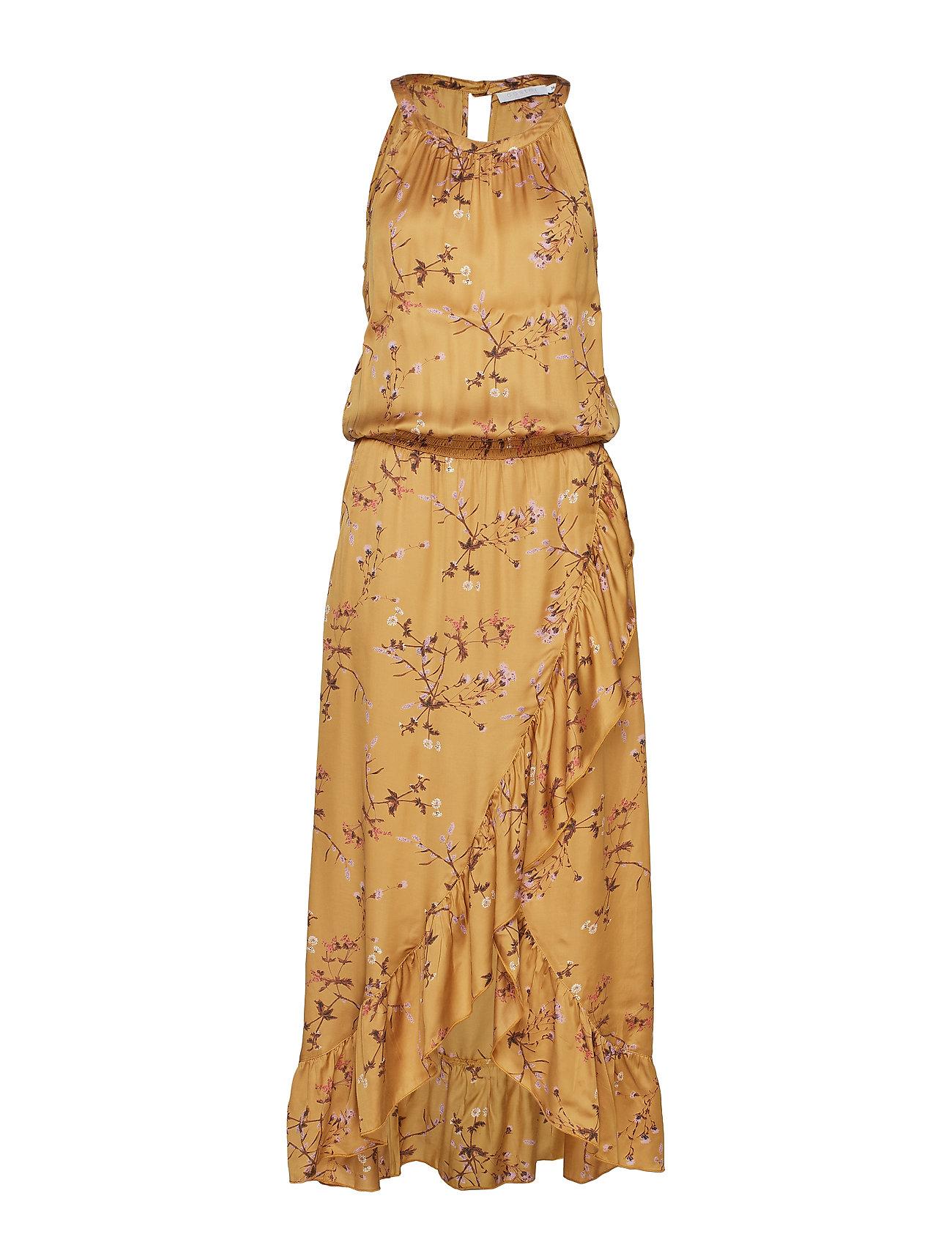 Coster Copenhagen Dress in valley print w. smock - VALLEY PRINT