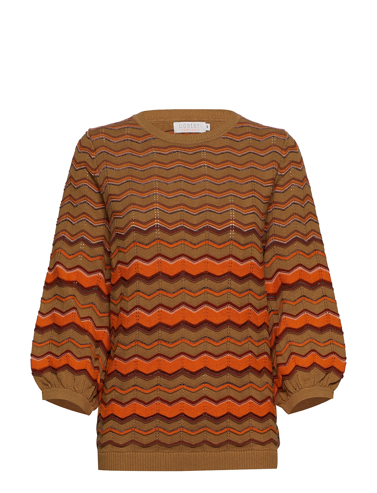 Coster Copenhagen Knit in multi color w. volume sleev - NOMADE