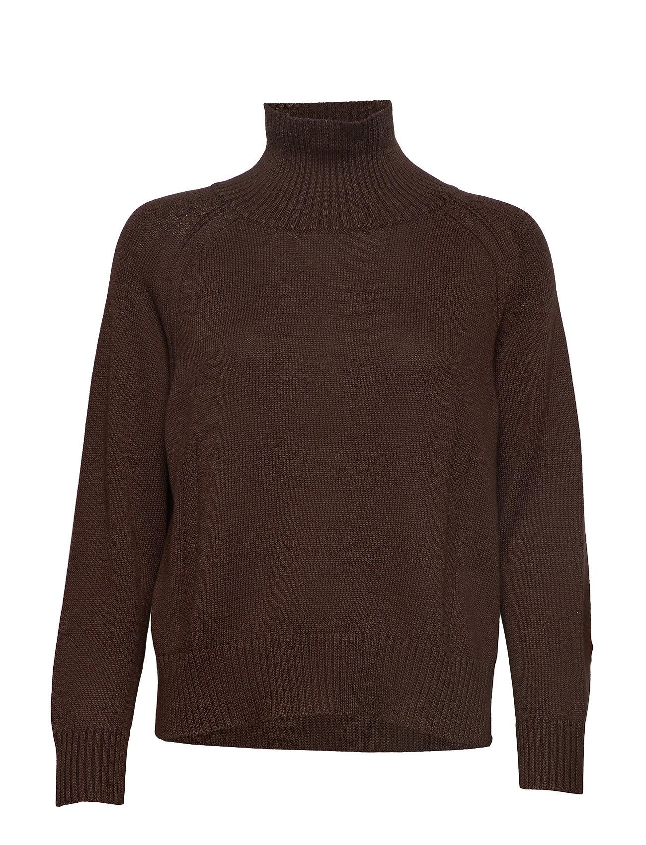Coster Copenhagen Knit w. T-neck in seawool - NIGHT SHADE