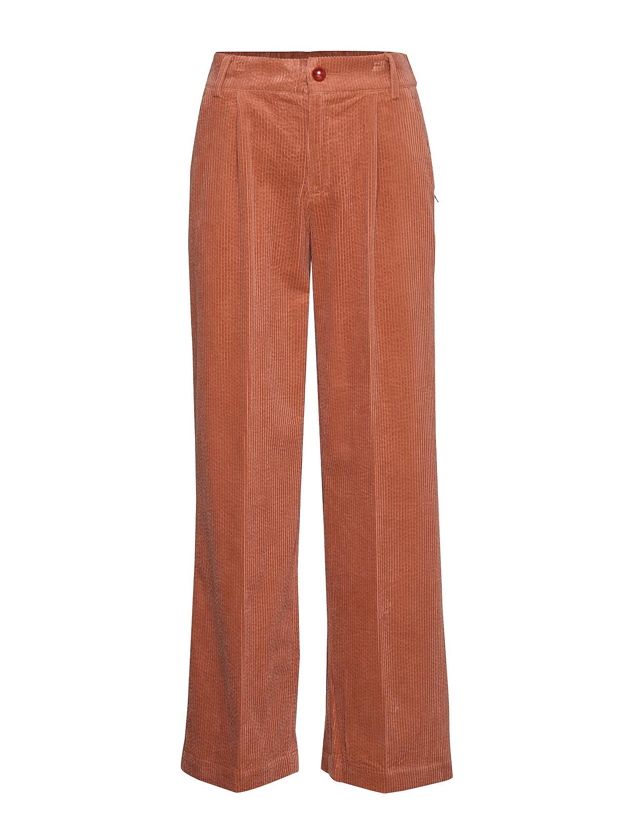 Coster Copenhagen Pants in corduroy w. elastic waistb - ORANGE MIST