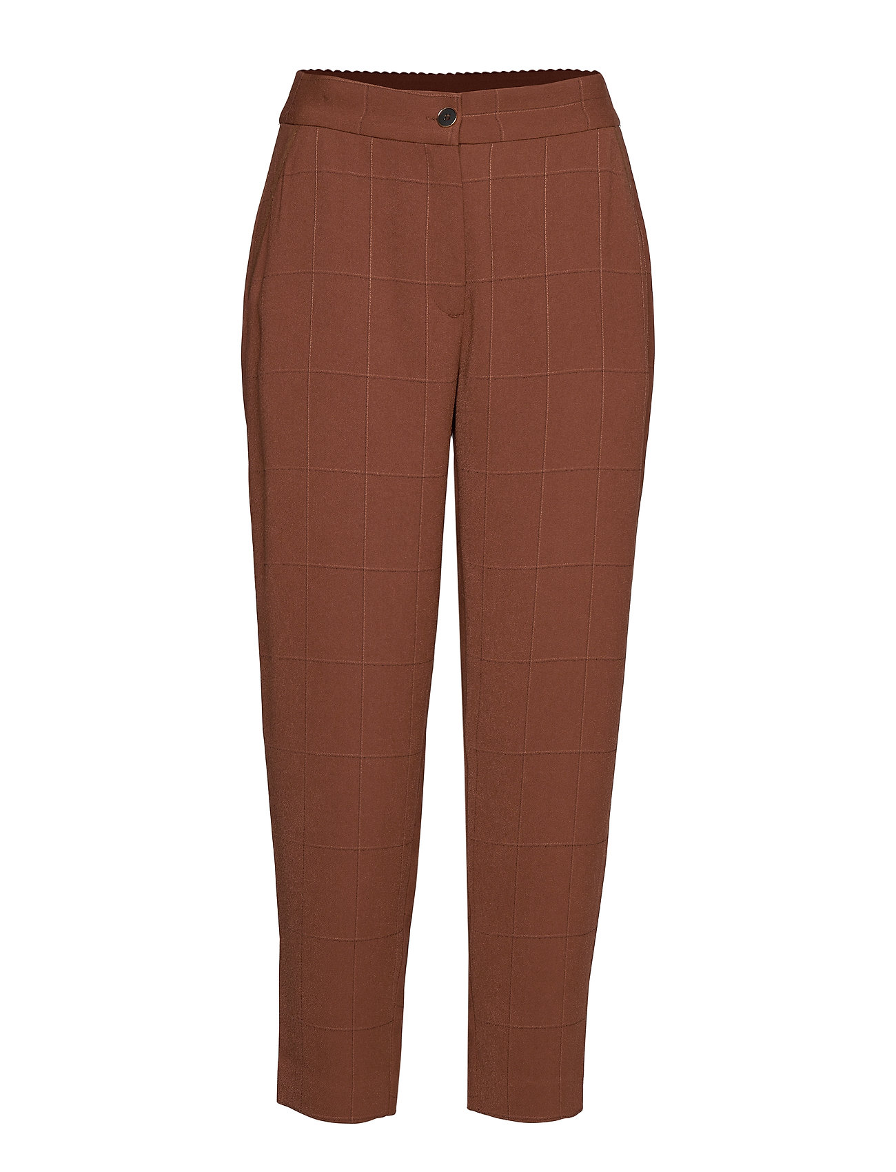 Coster Copenhagen Pants w. elasticband - Sille fit - CHOCOLATE NUT
