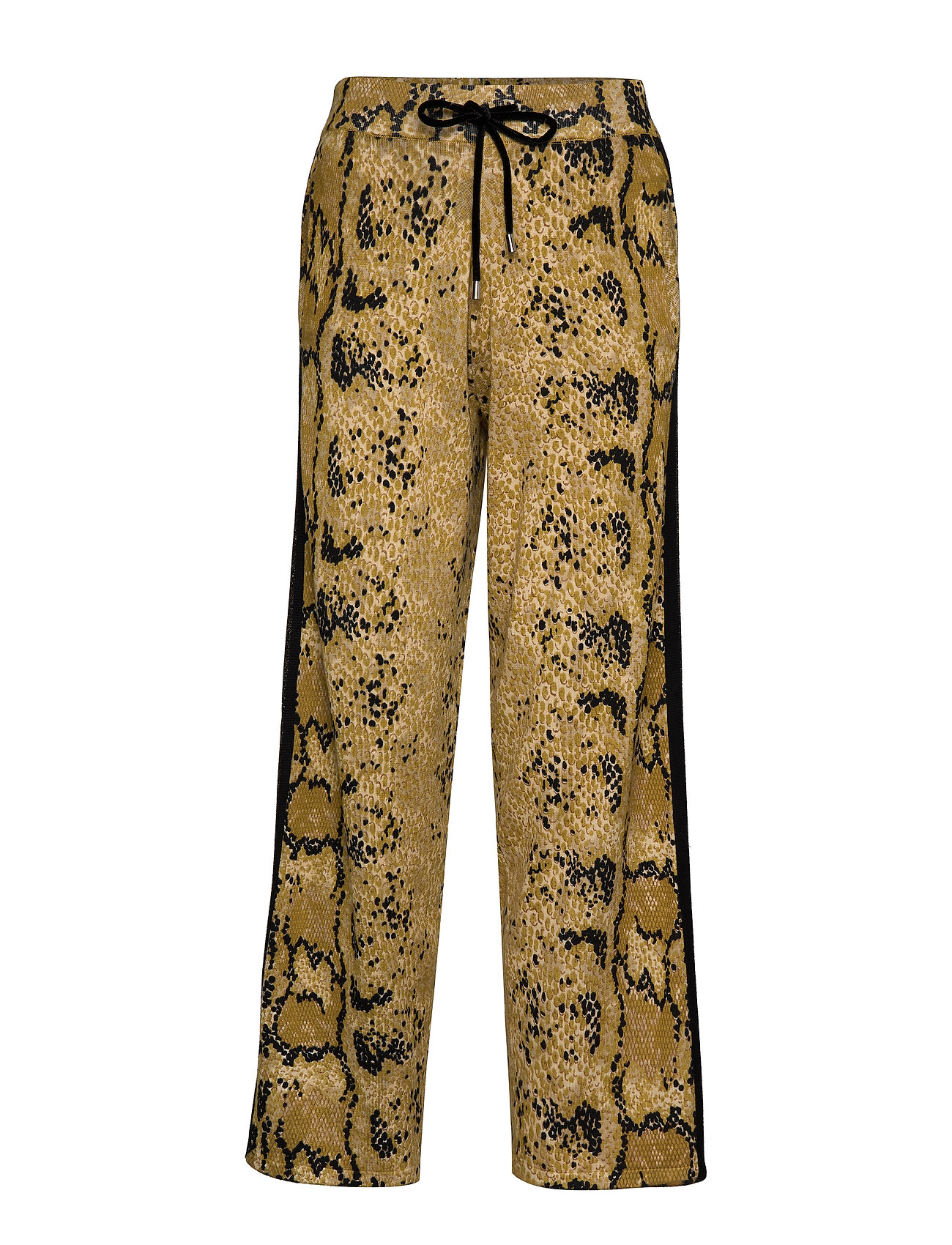 Coster Copenhagen Knitted pants in pyton print - YELLOW PYTON