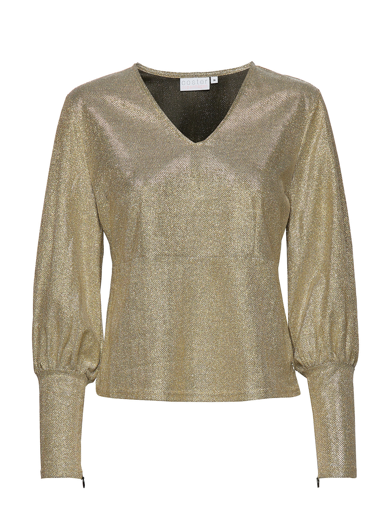Coster Copenhagen Blouse in glitter - SILVER GREY