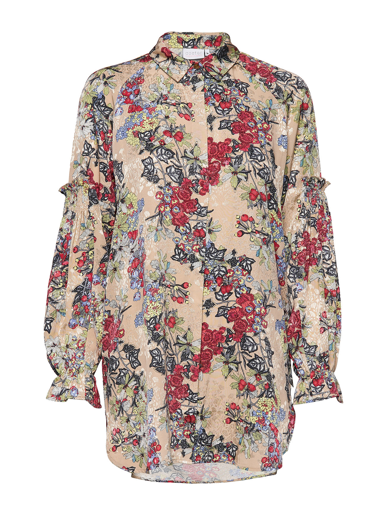 Coster Copenhagen Shirt in winter berry print - WINTER BERRY PRINT