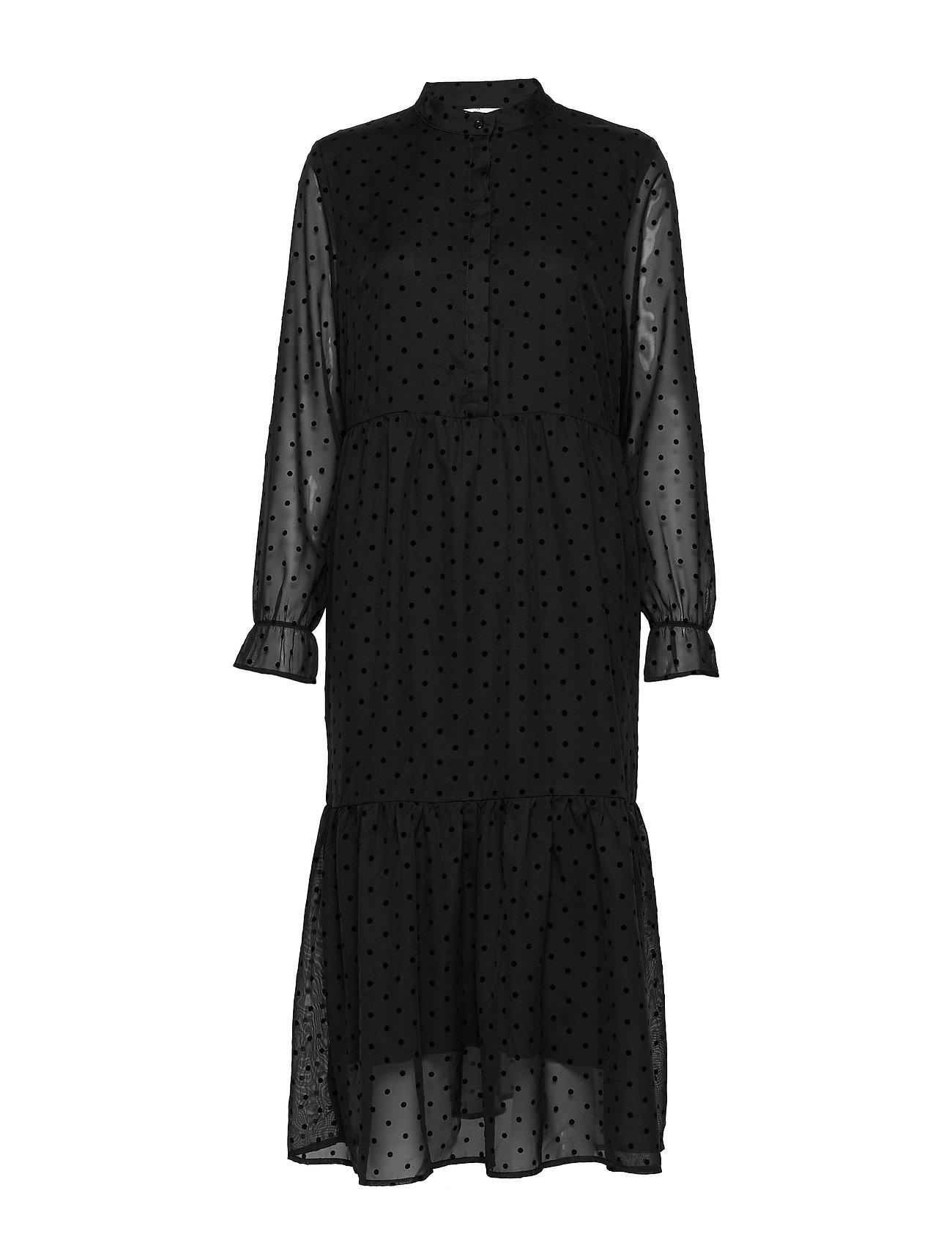 Coster Copenhagen Dress w. gatherings at skirt part - BLACK