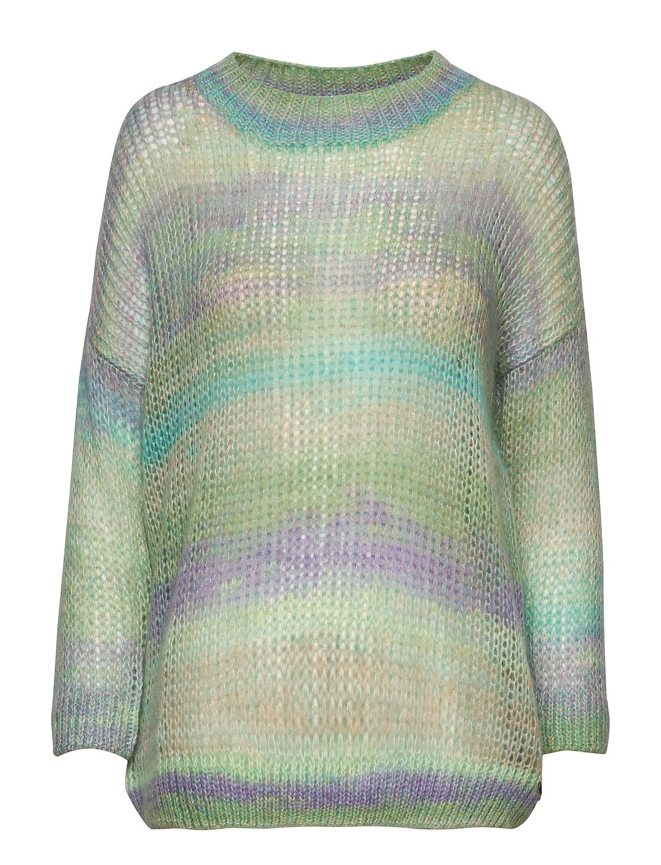 Coster Copenhagen Sweater in o-neck w. short sleeves - MULTI PASTEL