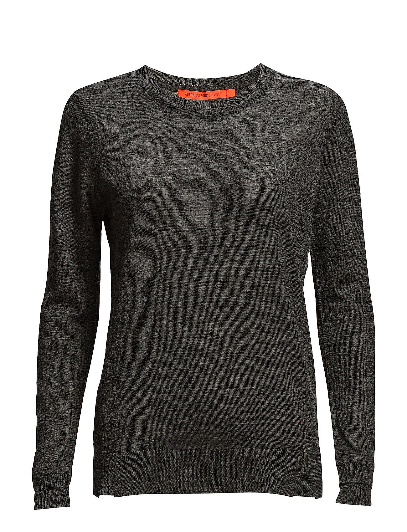Coster Copenhagen Round neck knit top merino (Basic) - DARK GREY MELANGE