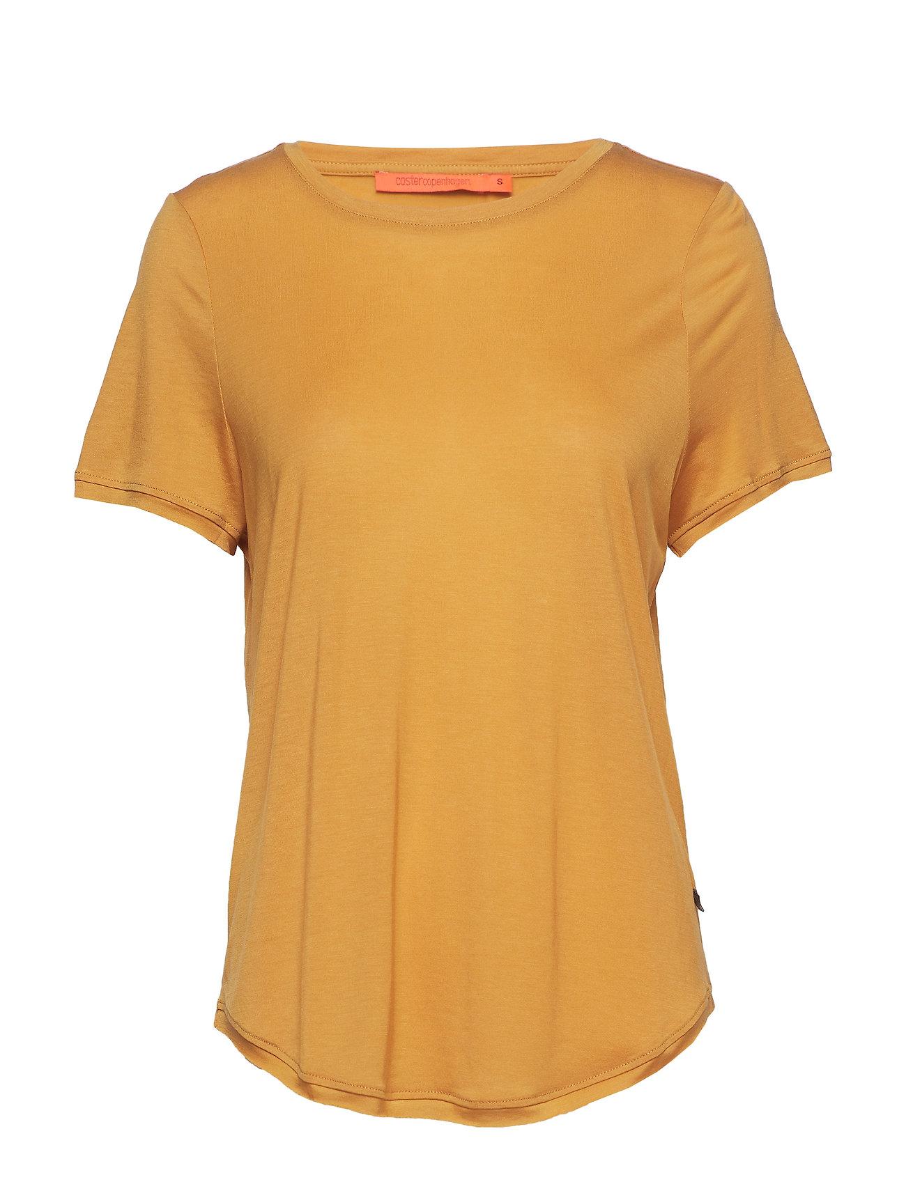 Coster Copenhagen T-shirt w. short sleeve - GOLD SPICE