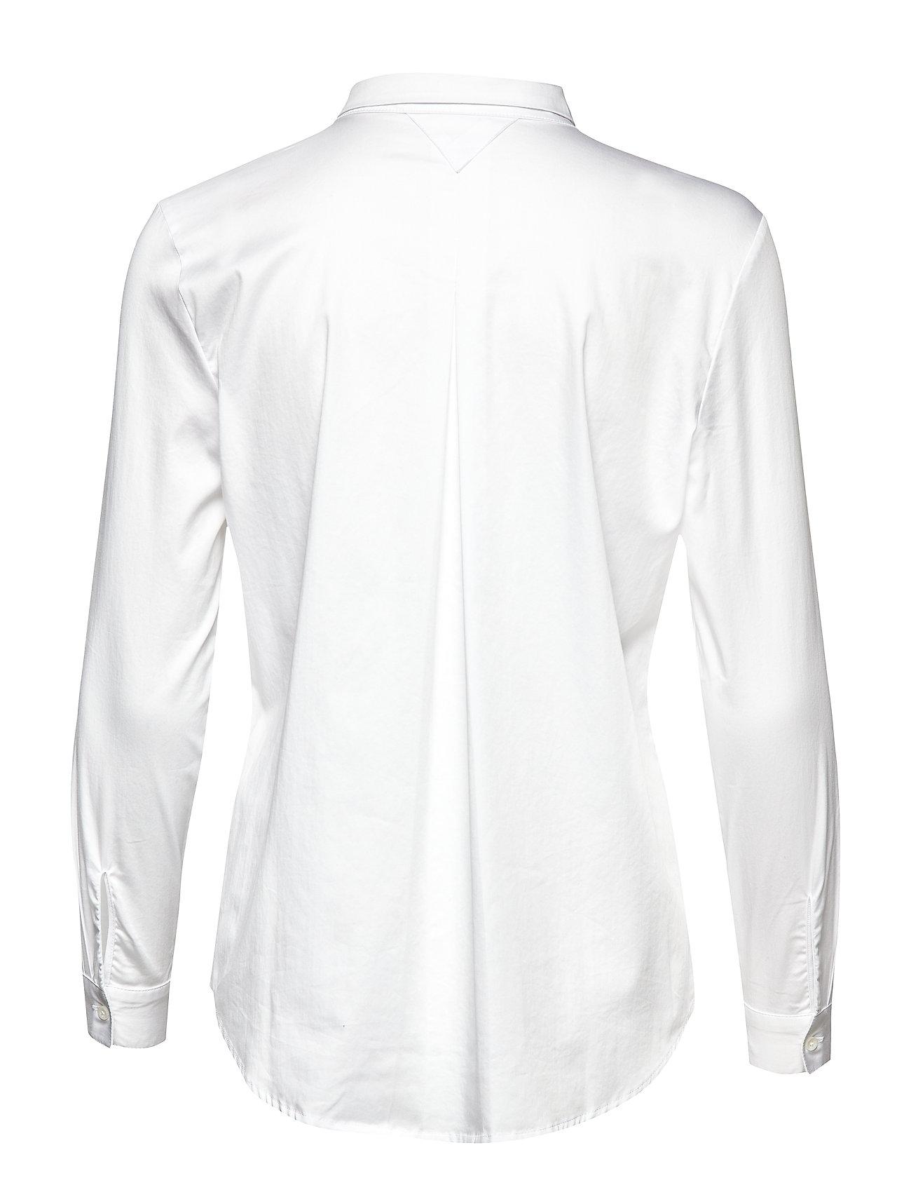 Coster Copenhagen Feminin Fit skjorte med plisse Hvid