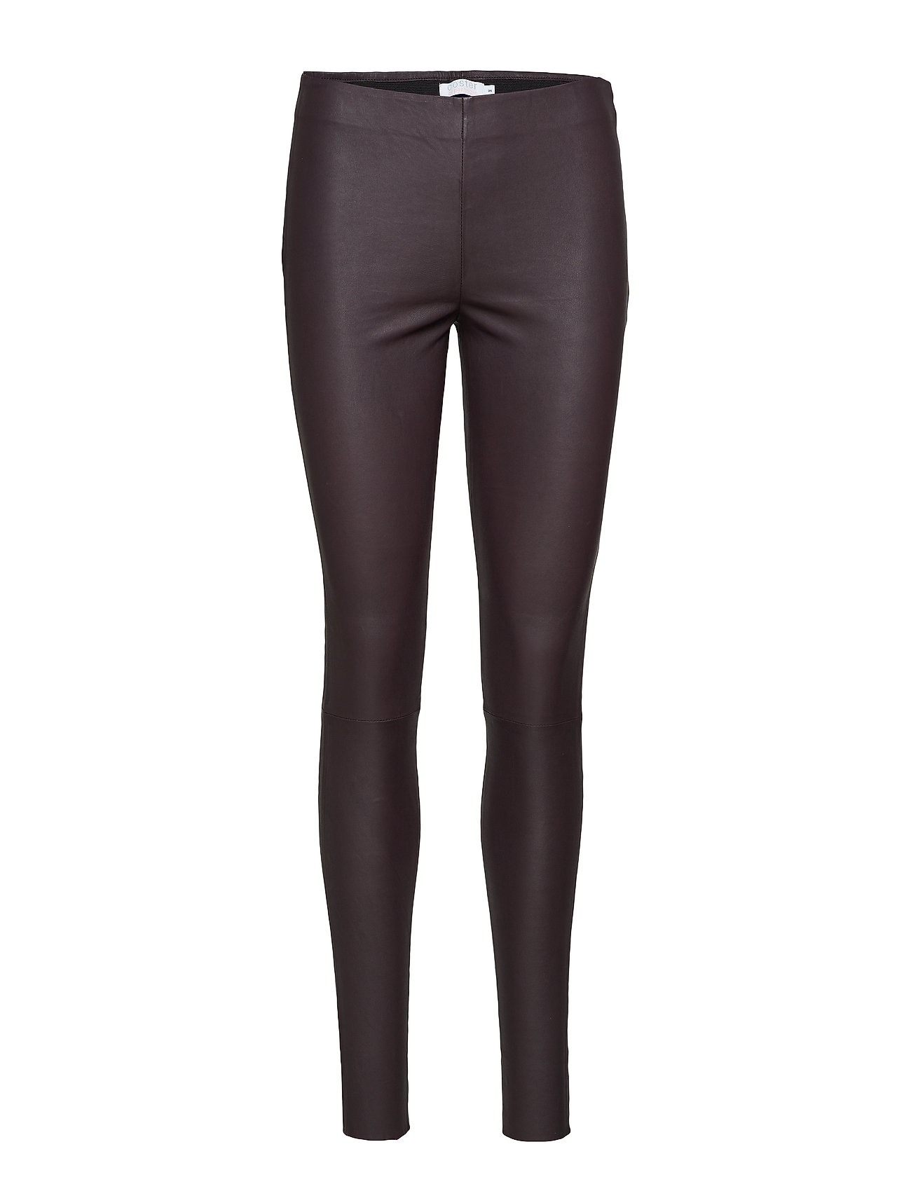 Image of Leather Stretch Leggings - Mynte Leather Leggings/Bukser Brun COSTER COPENHAGEN (3101134821)