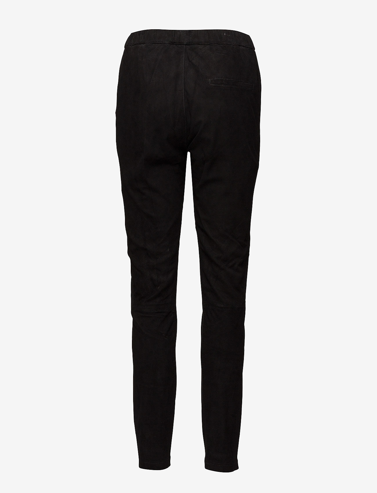Coster Copenhagen - Suede and jersey pants - pantalons en cuir - black