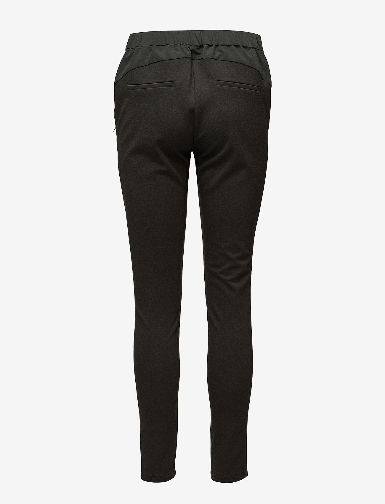 Coster Copenhagen - Pants w. jersey back - slim fit trousers - stone green