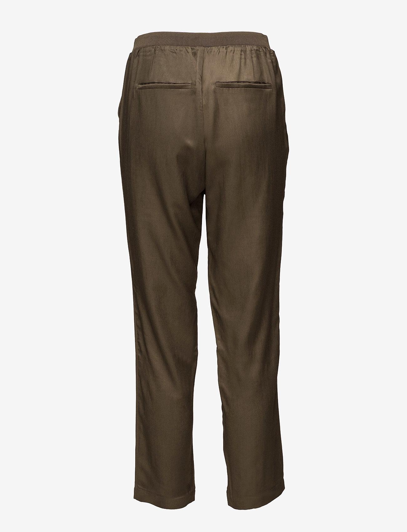 Coster Copenhagen Sateen pants - Spodnie DARK OLIVE - Kobiety Odzież.