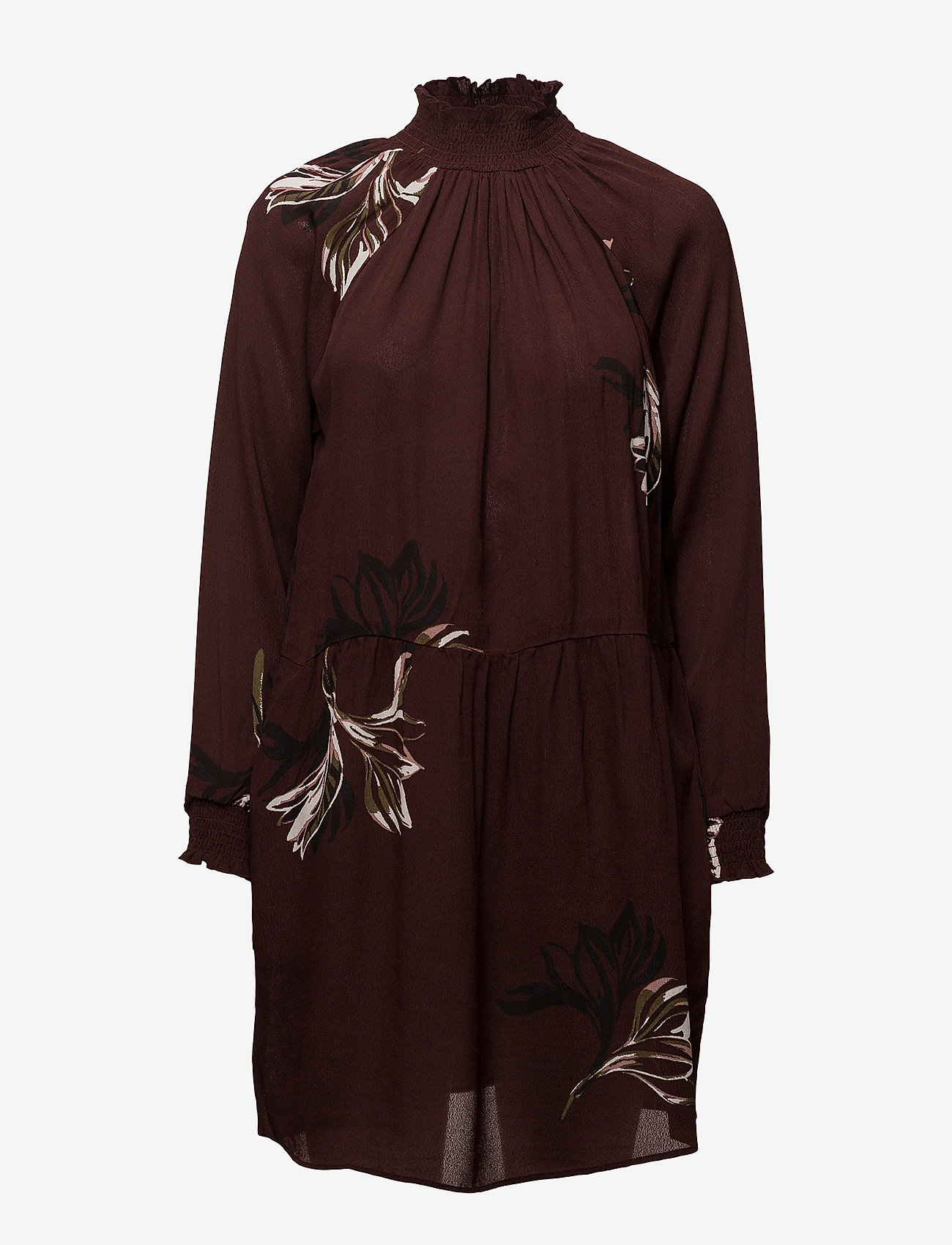 Coster Copenhagen - Dress w. turtle neck and blossom print - courtes robes - blossum print