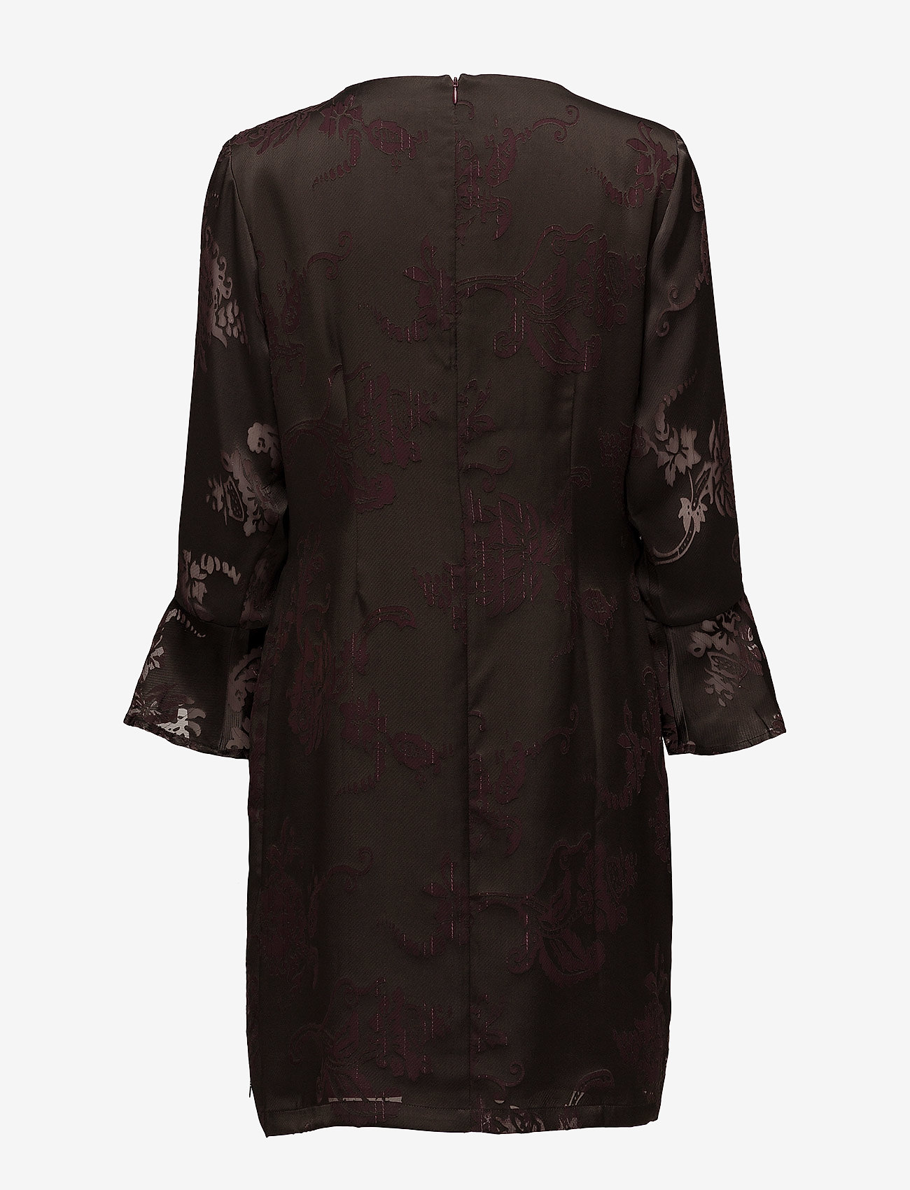 Coster Copenhagen - Dress w. sleeve ruffle burn-out - courtes robes - burn-out jacquard