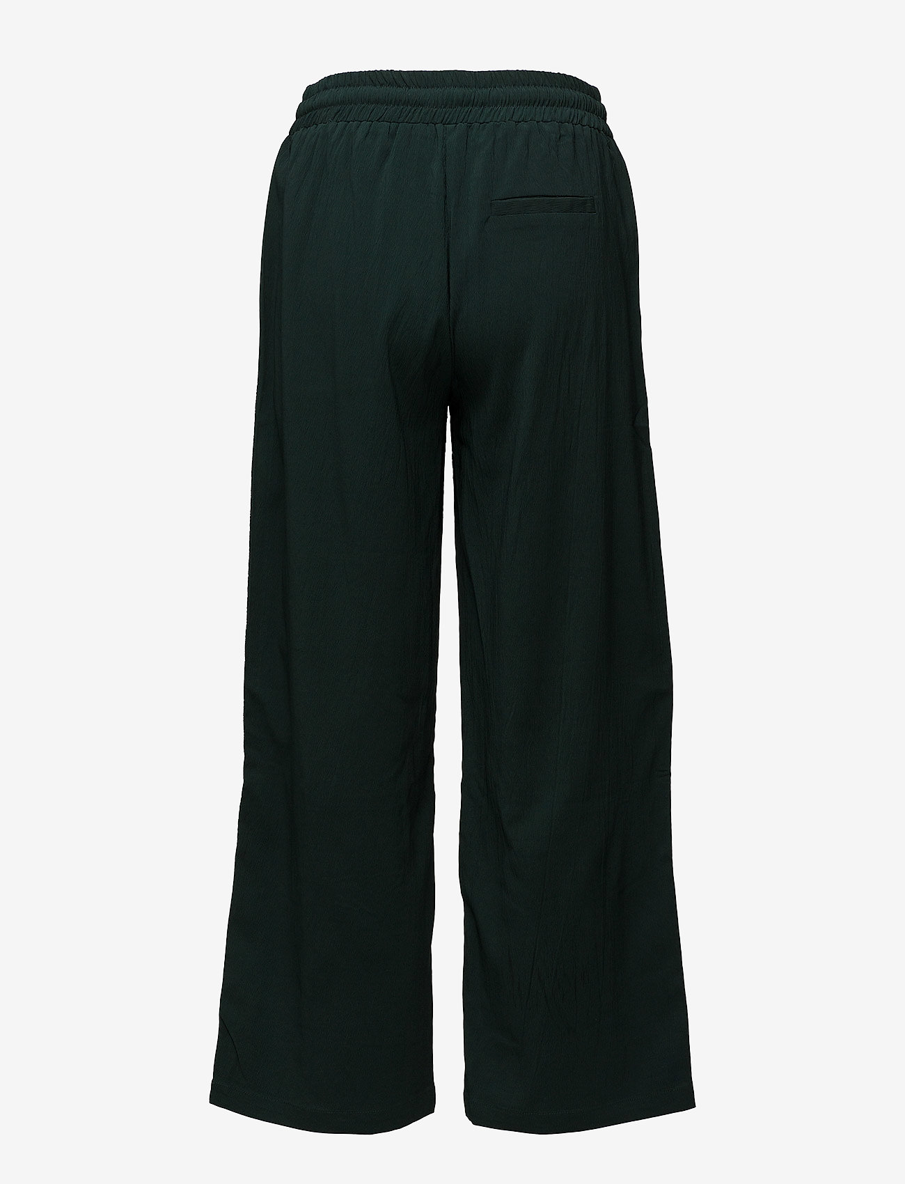 Coster Copenhagen - Pants w. tieband and elastic waist - wide leg trousers - emerald green