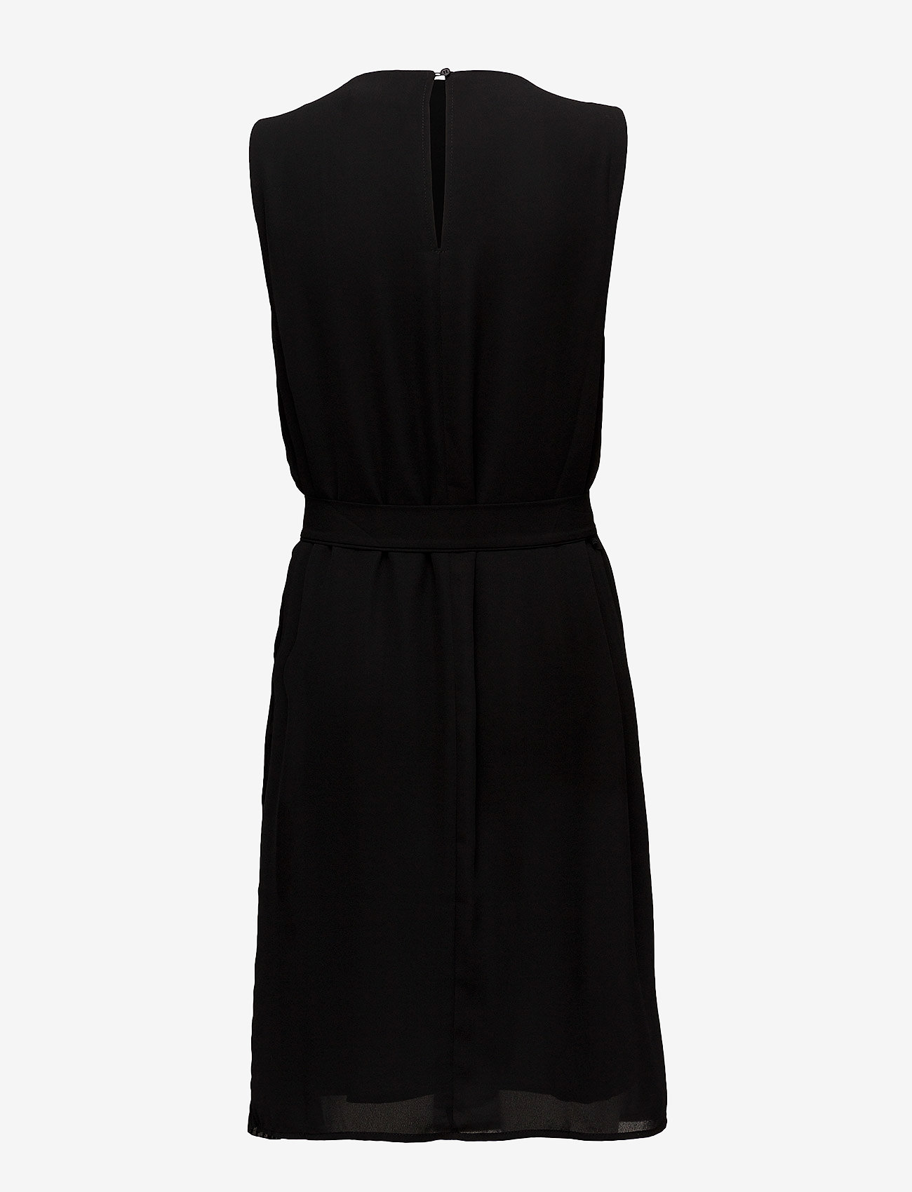Coster Copenhagen - Dress w. plissé and tieband - courtes robes - black