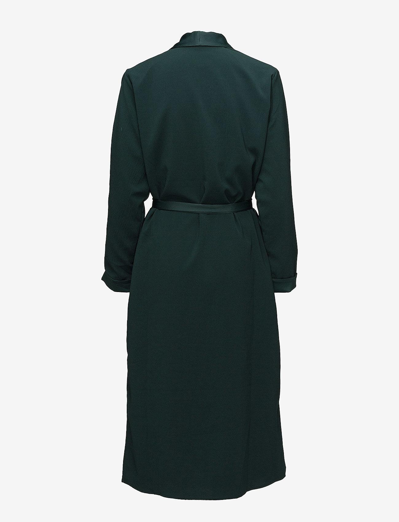 Coster Copenhagen - Long jacket w. shawl collar - light coats - emerald green