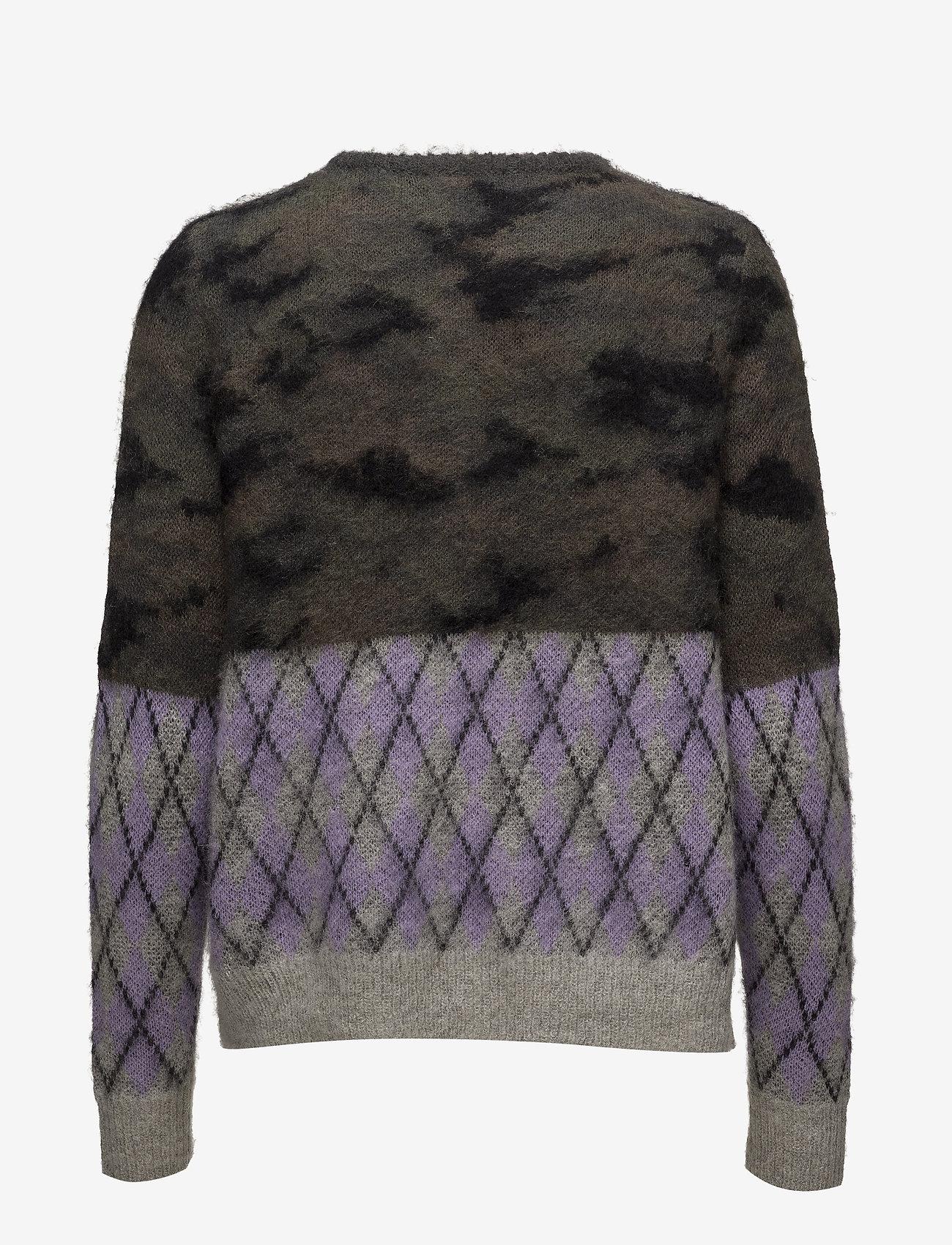 Coster Copenhagen Sweater in mixed camouflage and che - Dzianina CAMOUFLAGE - Kobiety Odzież.