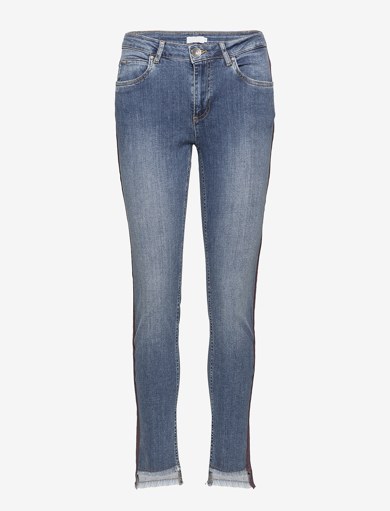 Coster Copenhagen - Jeans - relaxed fit, ankle lenght w. little flare and stripe - straight jeans - classic indigo - 0