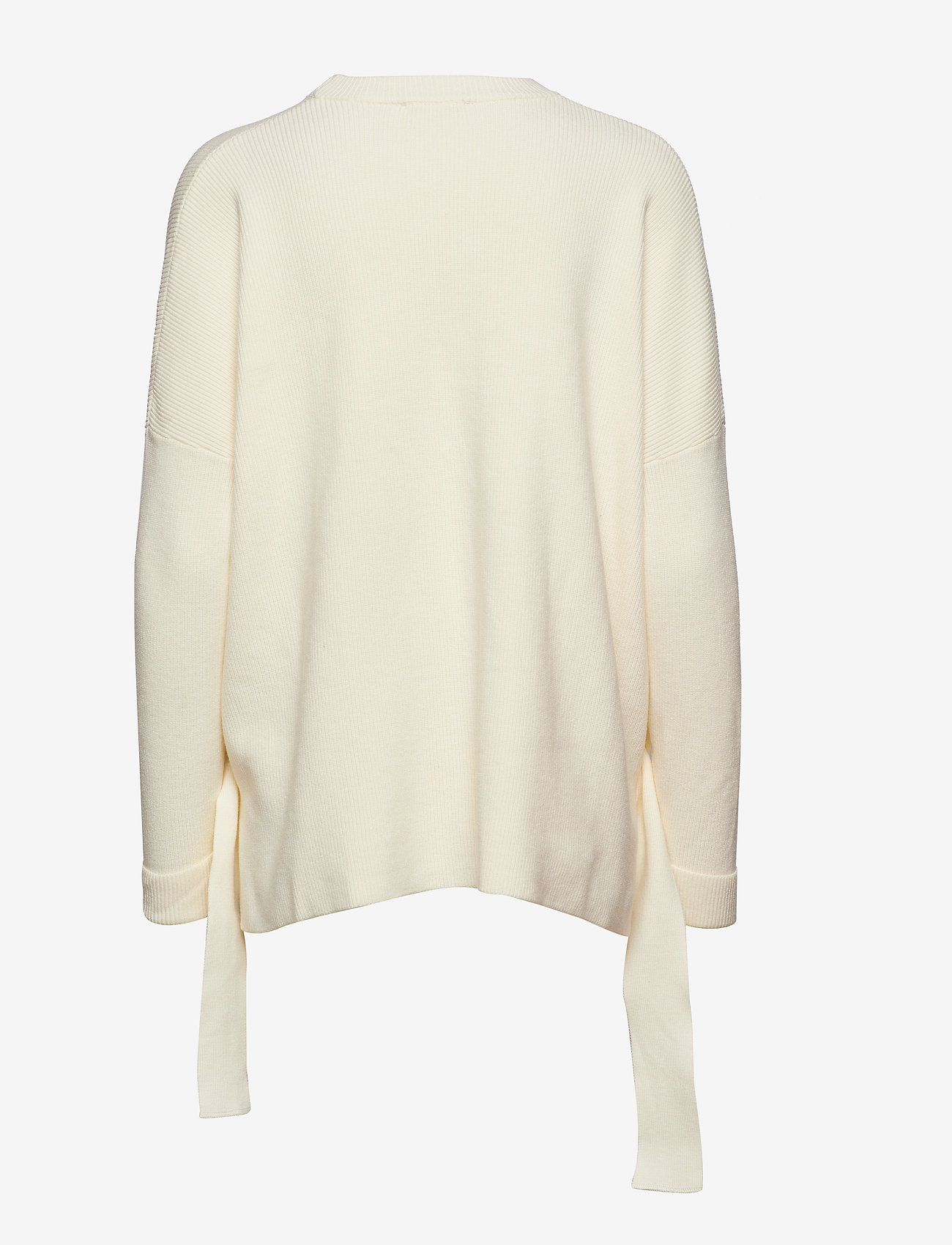Sweater In Knit W. Tie band Detail (Creme) (59.60