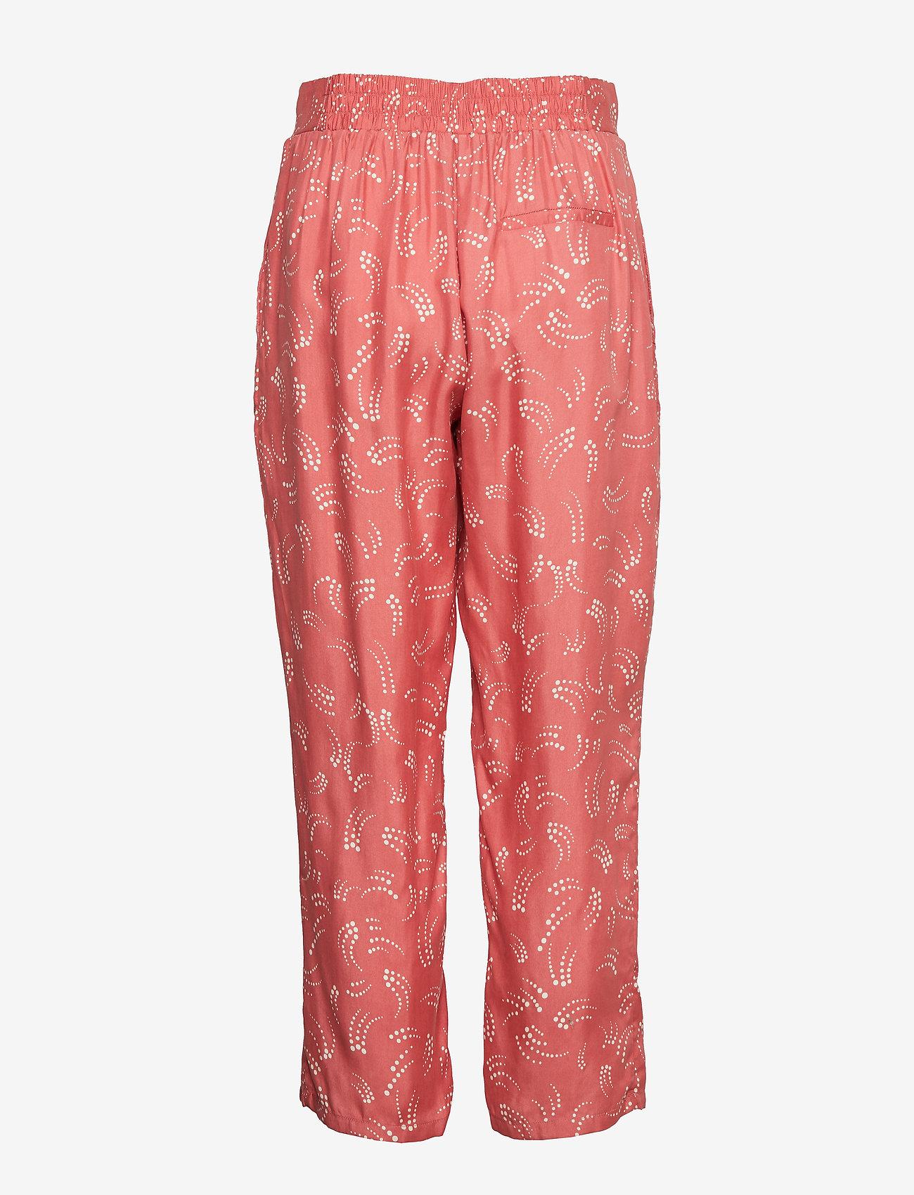 Pants In Dot Print W. Elastic Waist (Canyon Rose) (519.60 kr) - Coster Copenhagen