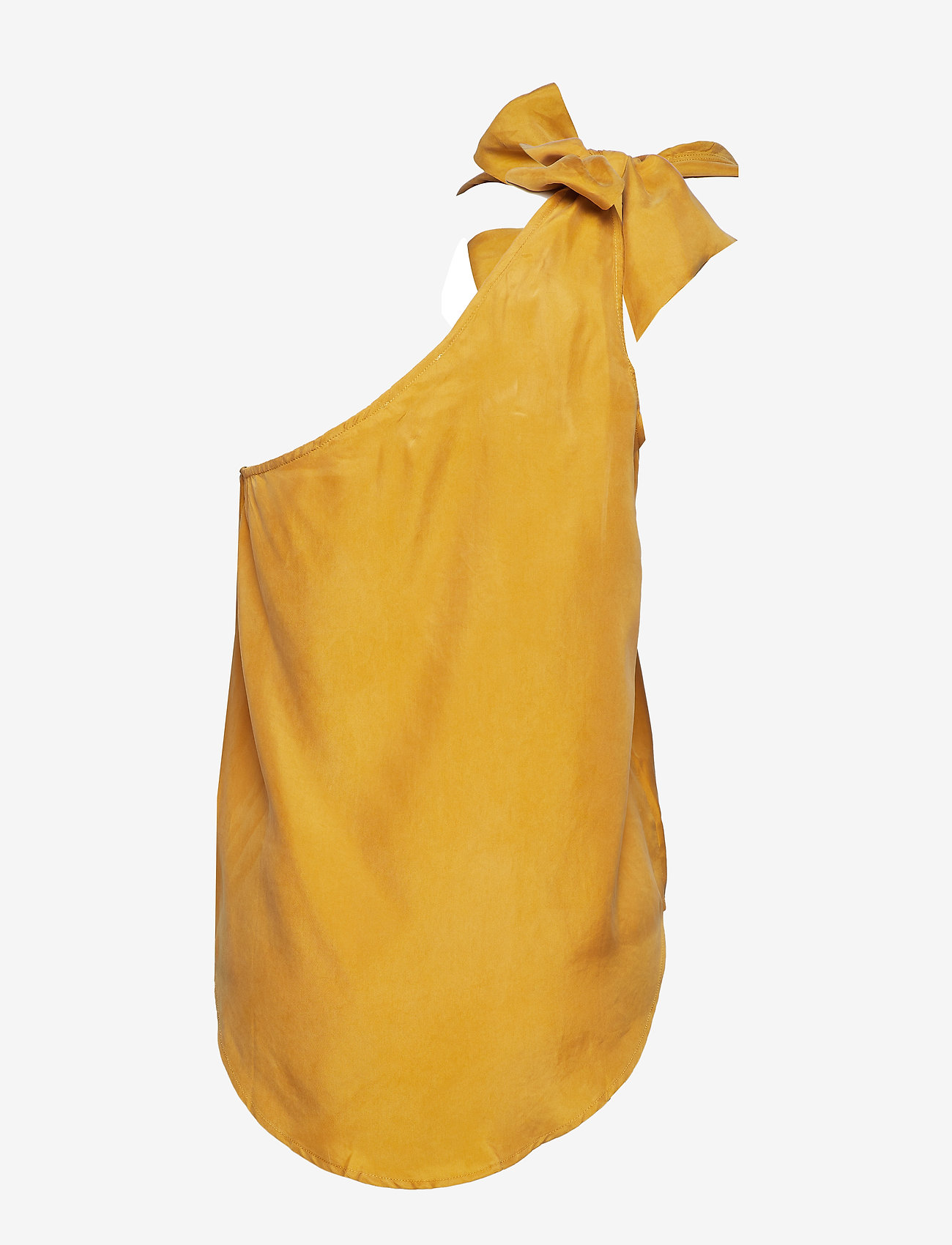 Coster Copenhagen - Top w. one-shoulder and bow - Ærmeløse bluser - gold spice - 1