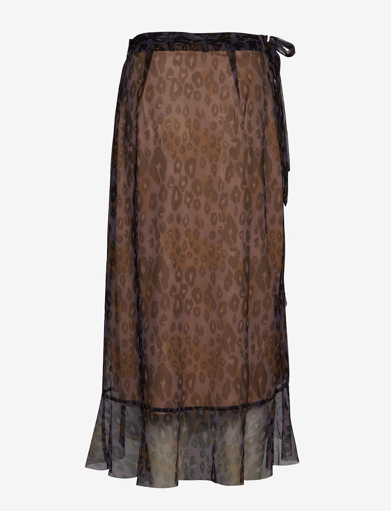 Coster Copenhagenskirt In Tiger Print W. Wrap Effect - Röcke