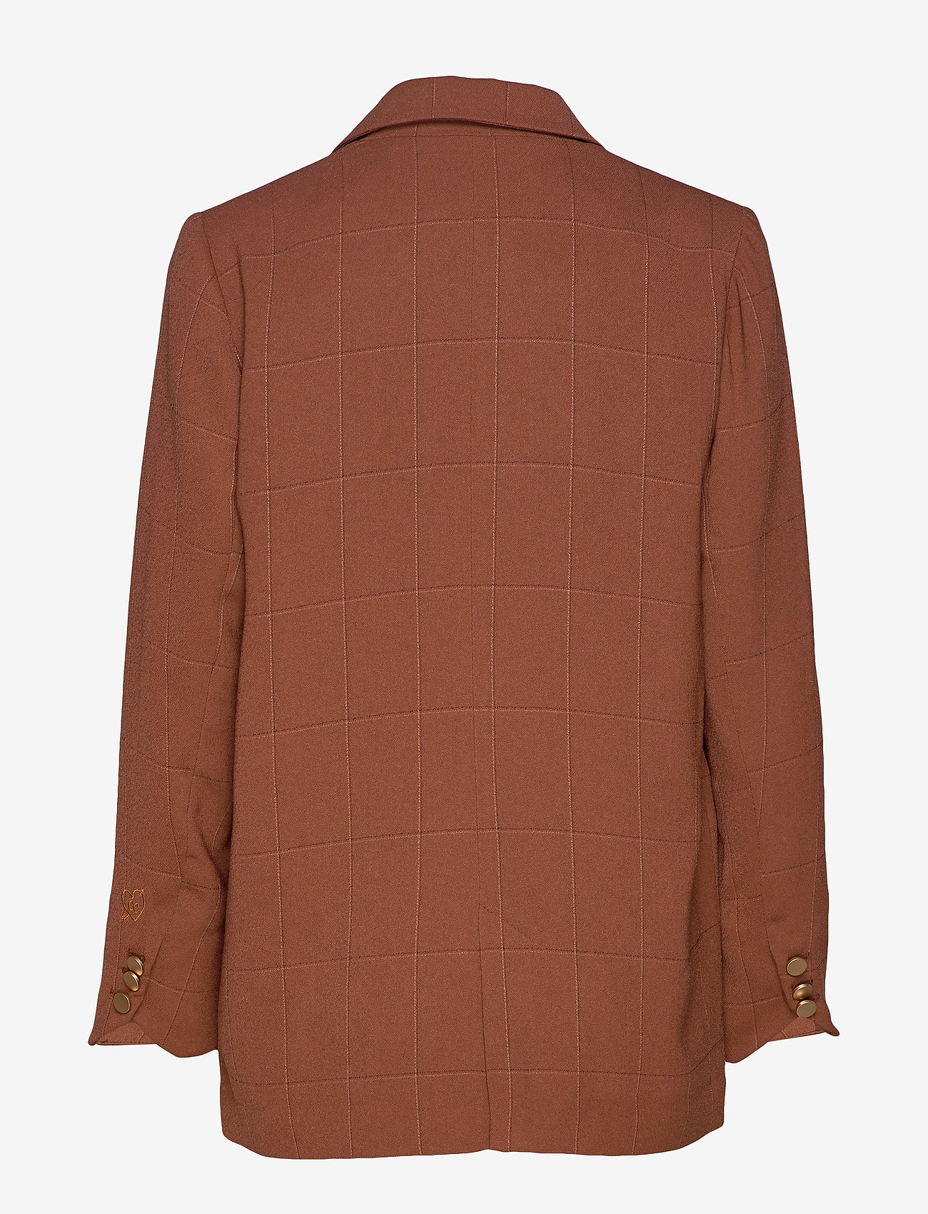 Suit Jacket In Checked Quality (Chocolate Nut) - Coster Copenhagen 62Us5f