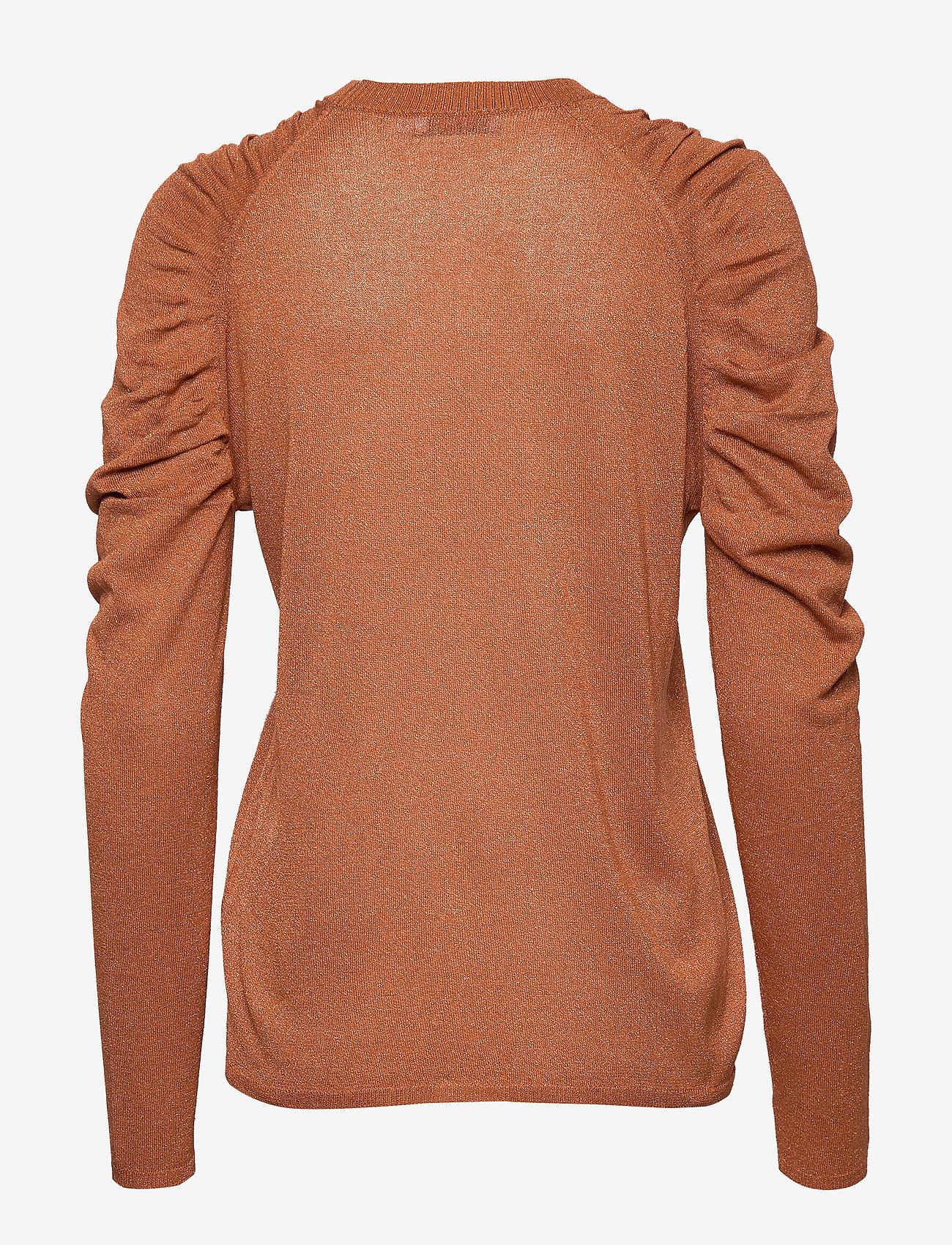 Knit In Lurex W. Volume At Shoulder (Camel) (659.40 kr) - Coster Copenhagen