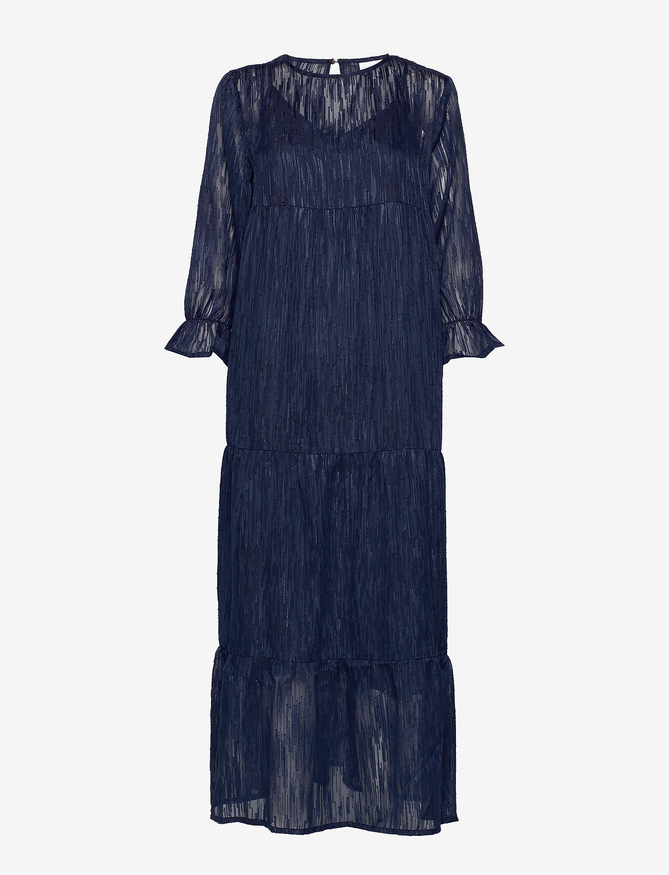 Coster Copenhagen - Dress long sleeved w. volume at sle - robes de fête - night sky blue