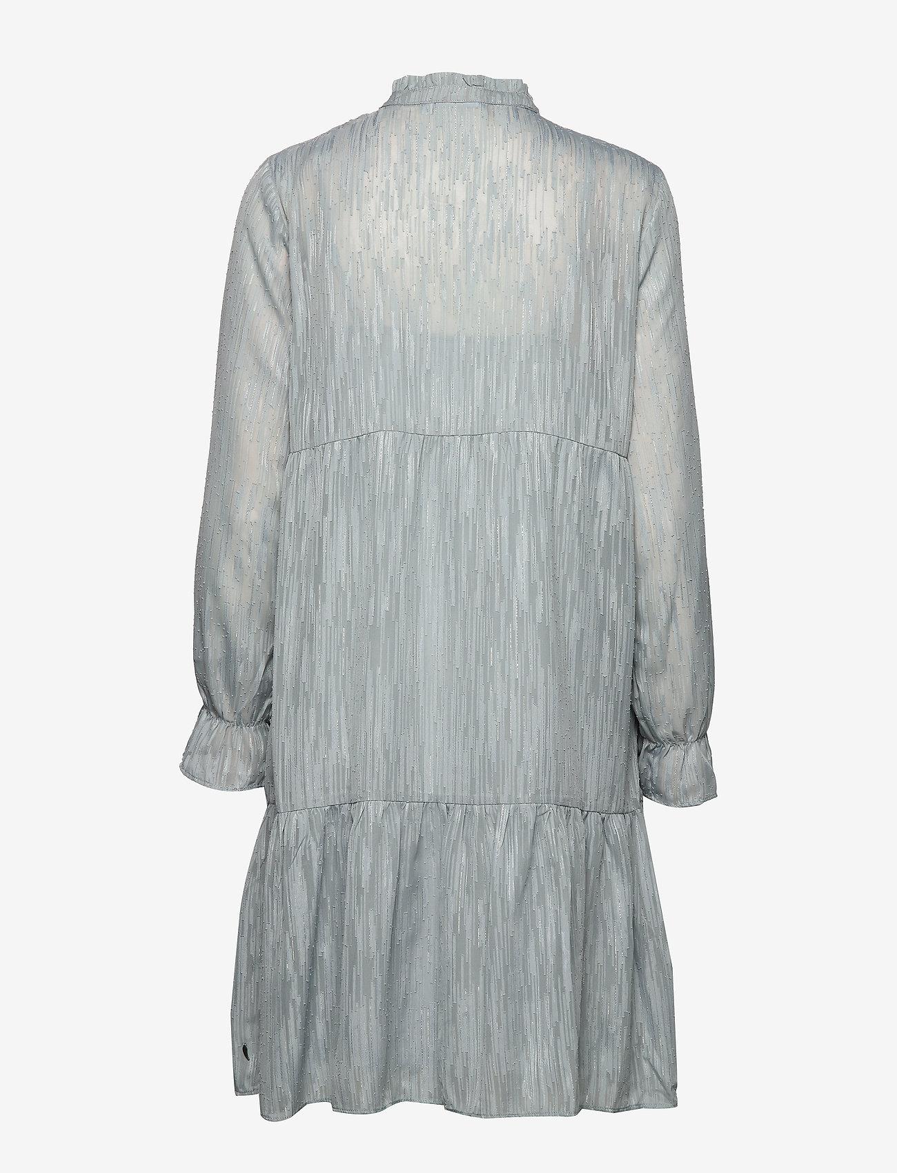 Dress Long Sleeved W. Frill At Neck (Shadow Blue) - Coster Copenhagen hij2jK