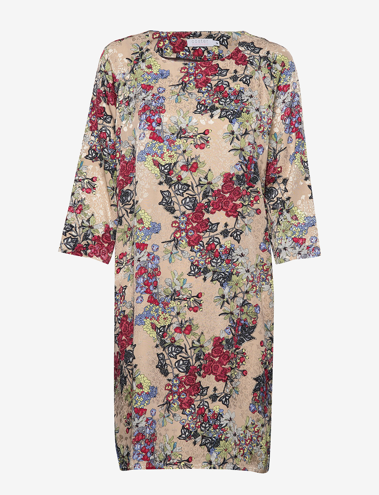 Coster Copenhagen - Dress in winter berry print w. ragl - robes longeur du midi - winter berry print