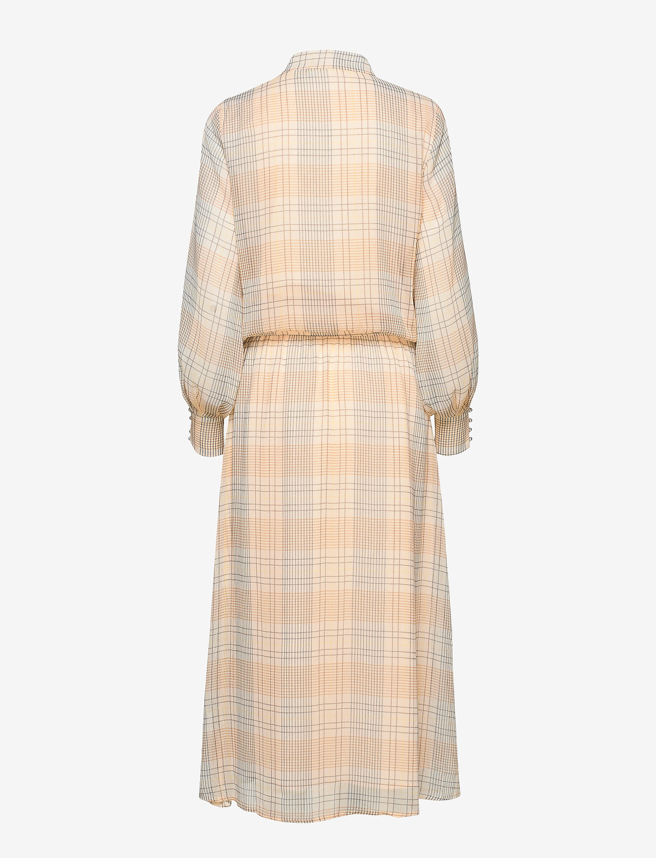 Coster Copenhagen - Dress long sleeved in check print - shirt dresses - check print
