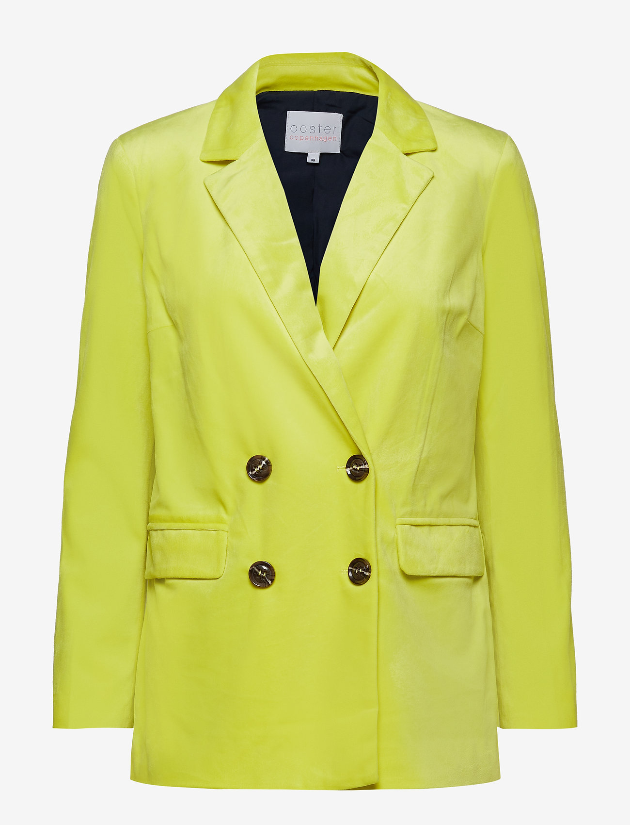 Coster Copenhagen - Suit jacket w. button closure - vestes tailleur - neon yellow