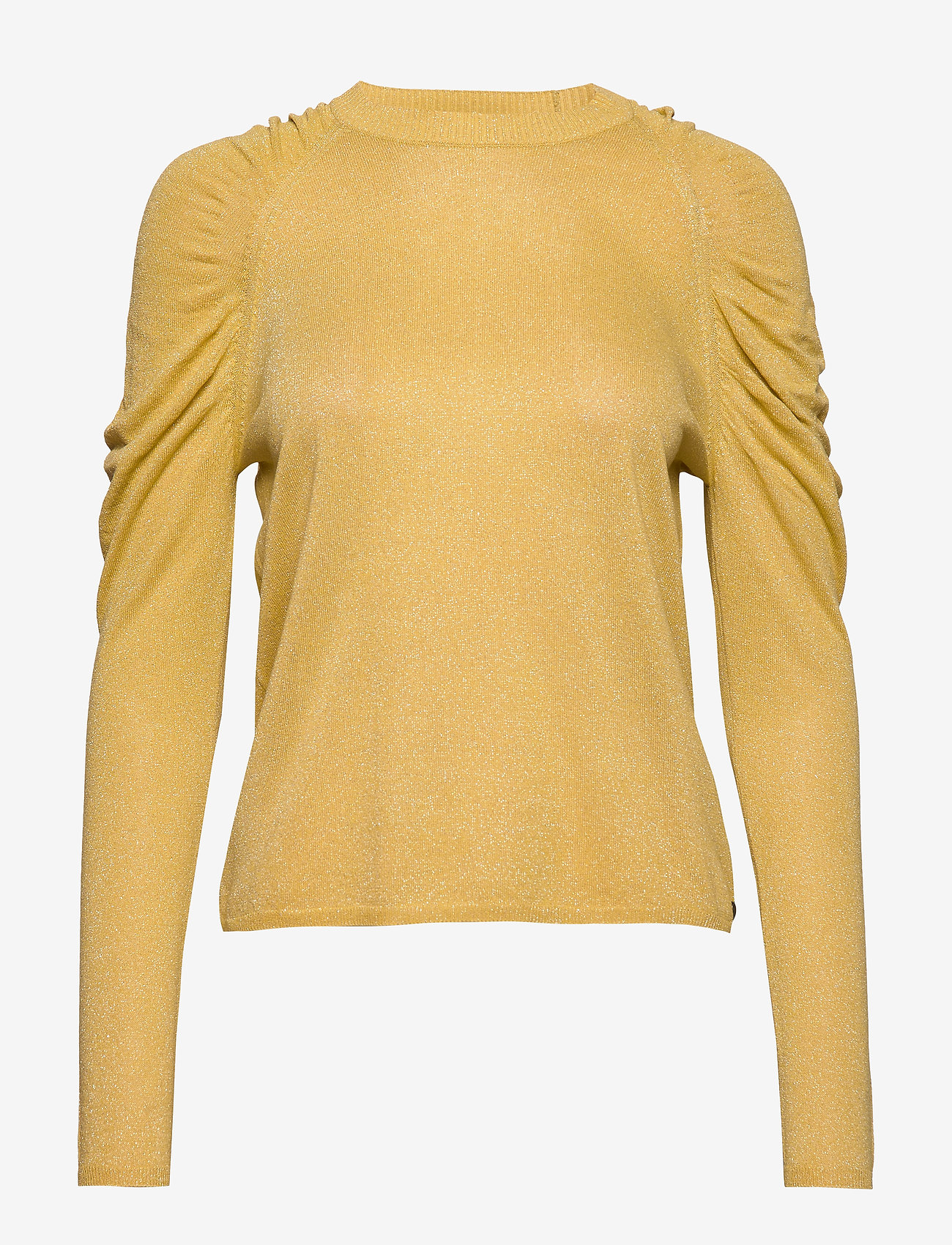 Coster Copenhagen - Knit in lurex w. volume at shoulder - neulepuserot - light yellow