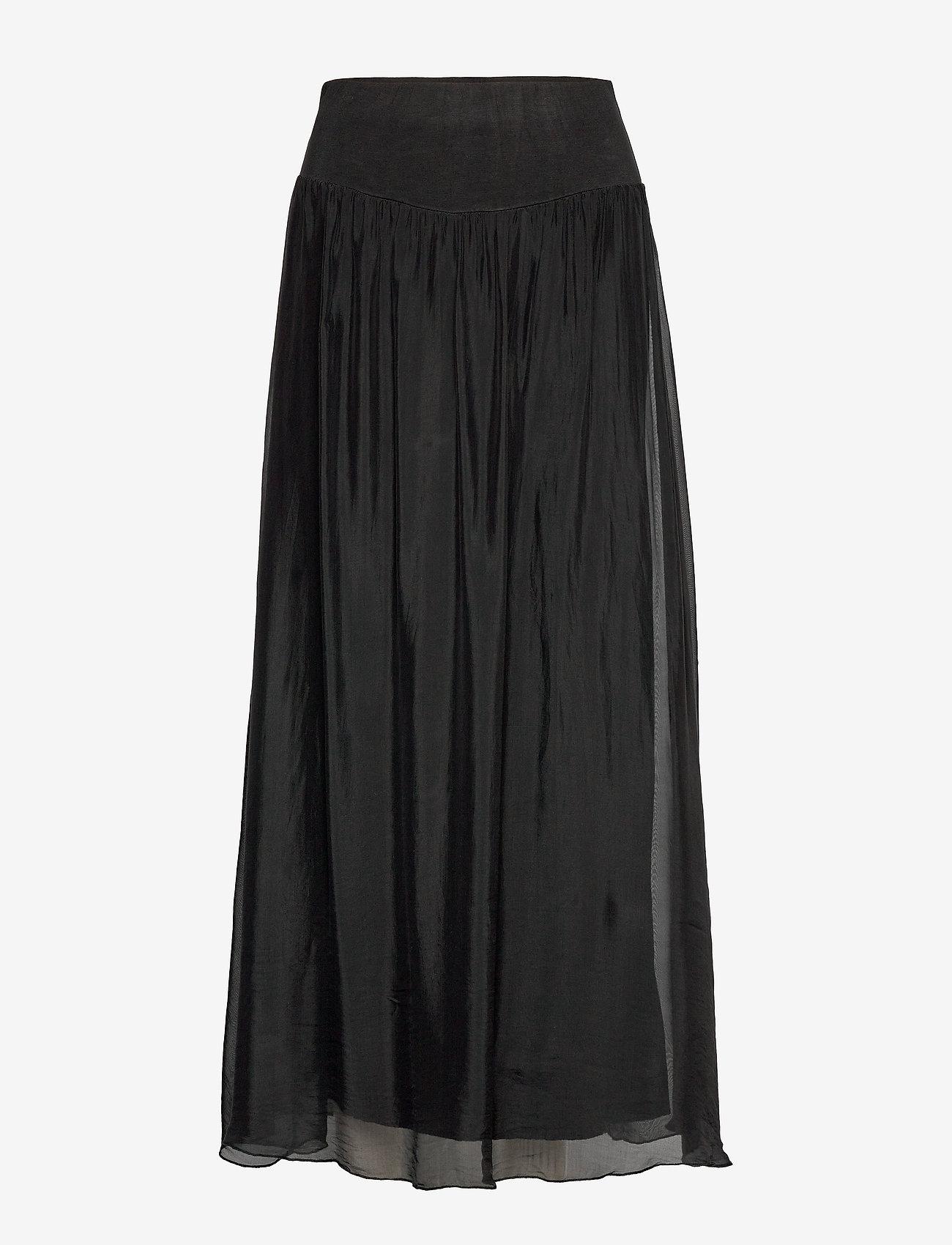 Coster Copenhagen - Long skirt w. jersey waistband - lange skjørt - black