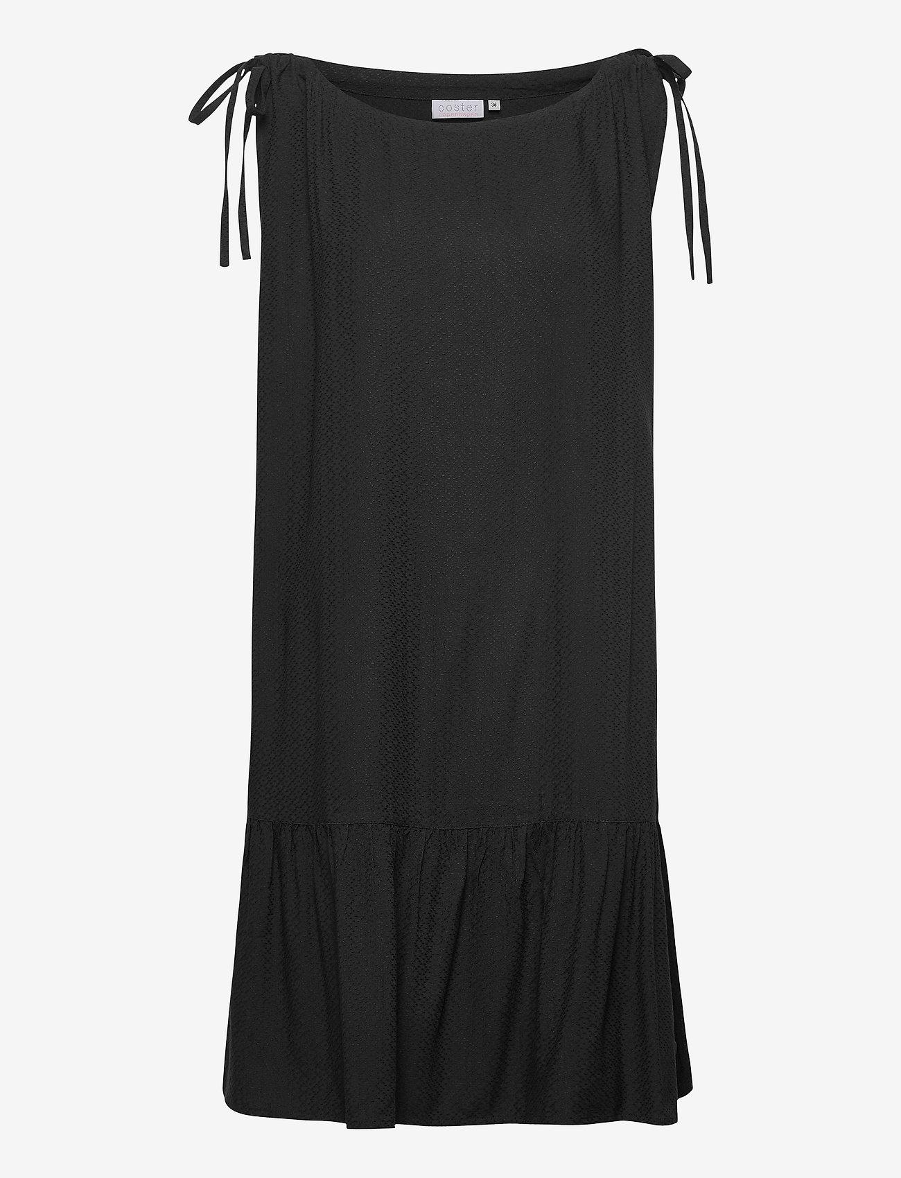 Coster Copenhagen - Dress w. skirtpart in Eco Friendly - korte kjoler - black
