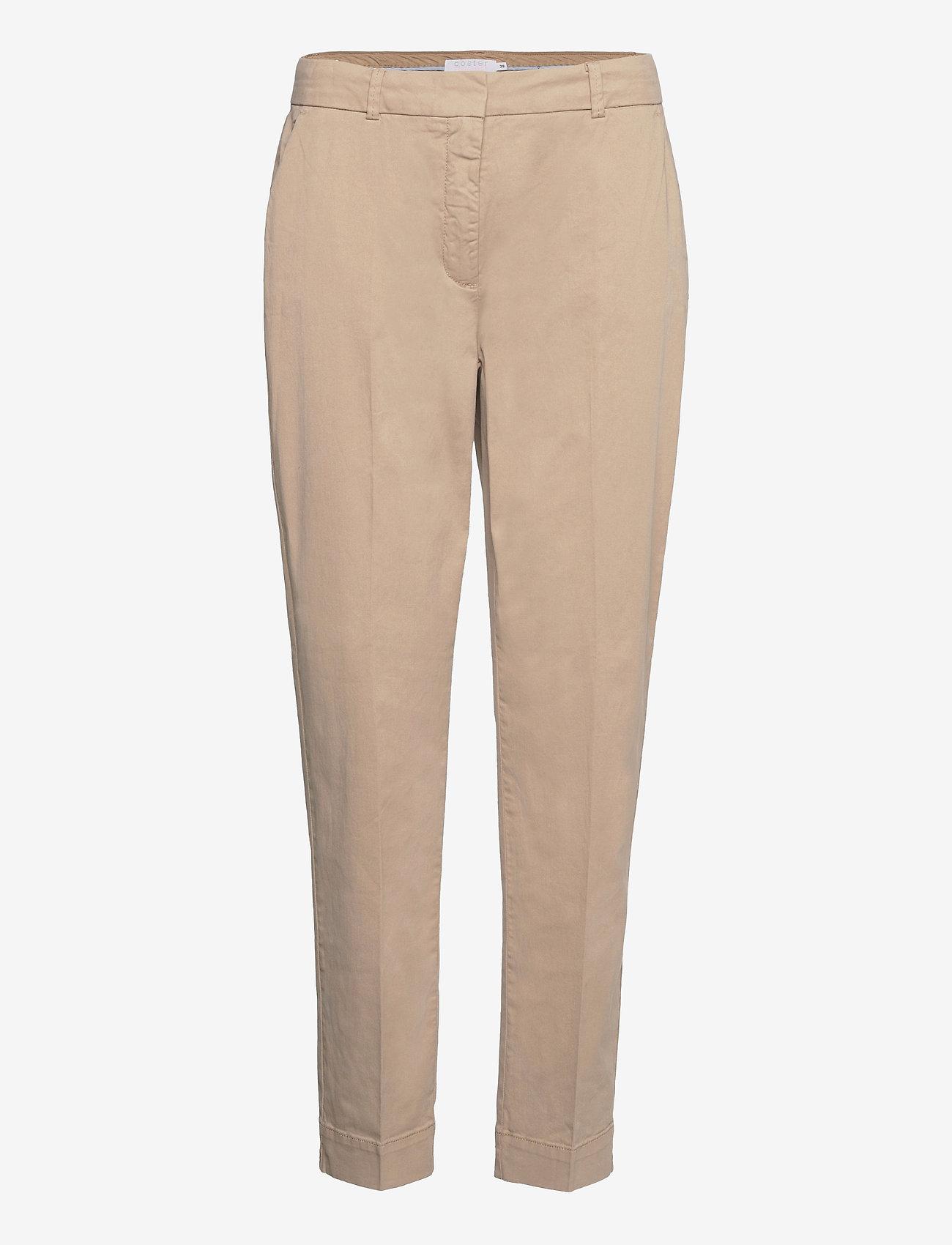 Coster Copenhagen - Chino pants w. press fold and paspe - chinos - khaki - 0