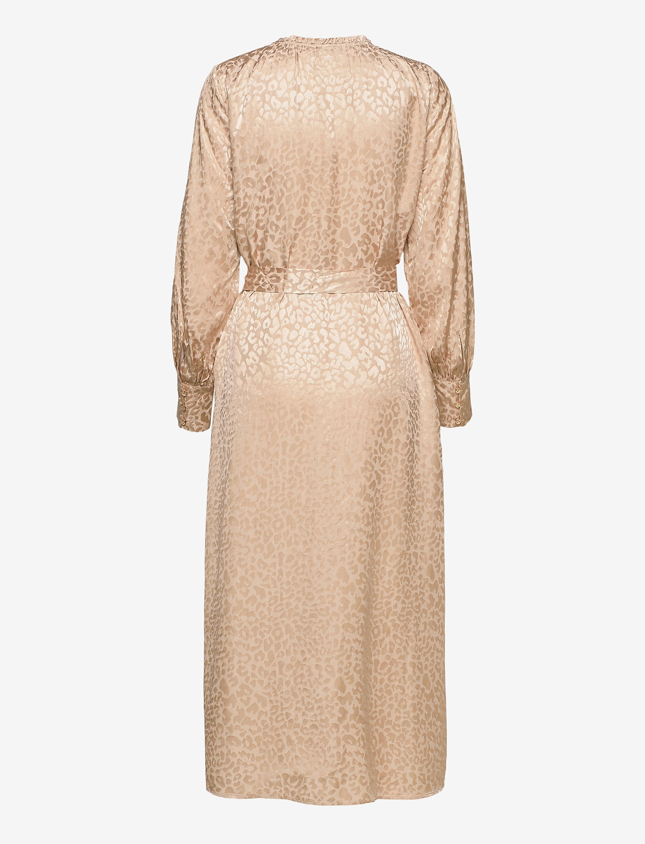 Coster Copenhagen - Shirt dress in leopard jacquard - kveldskjoler - vanilla - 1