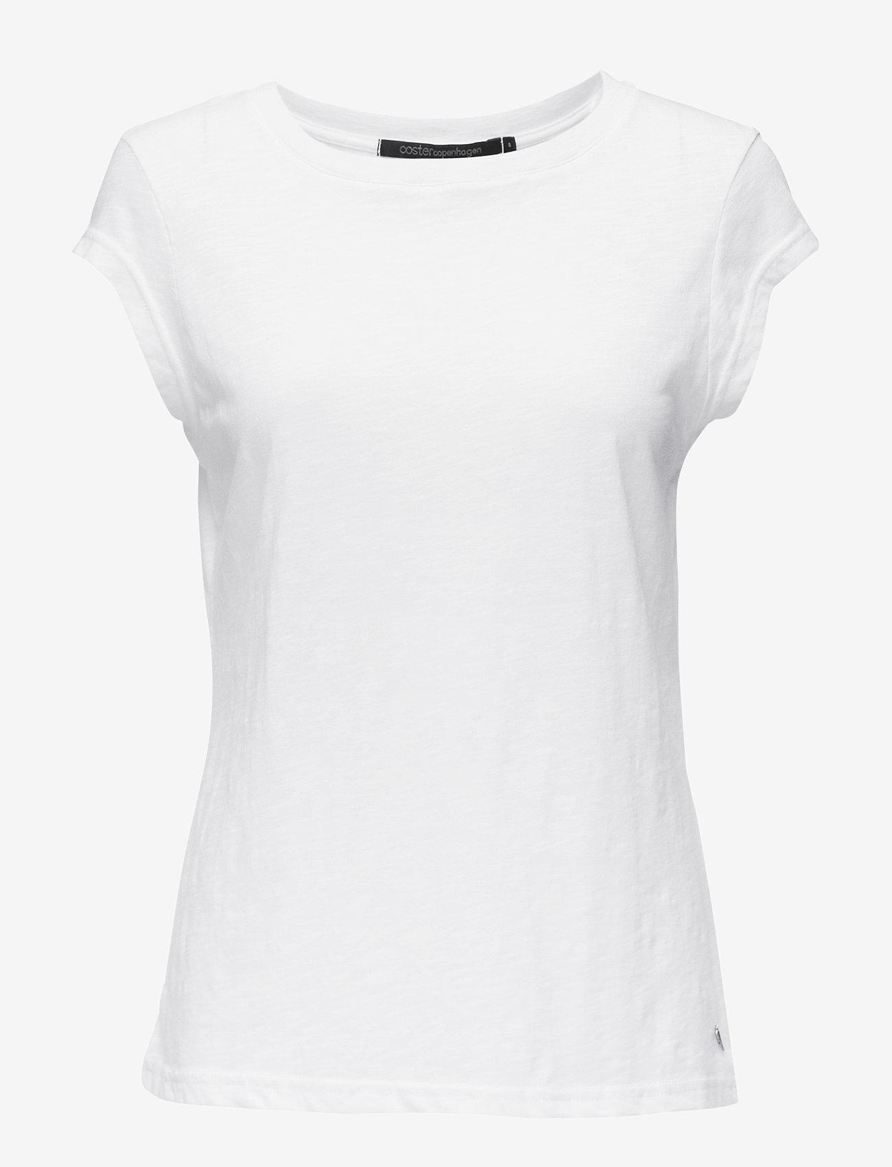 Coster Copenhagen - CC Heart basic t-shirt (B0017) - t-krekli - white - 0