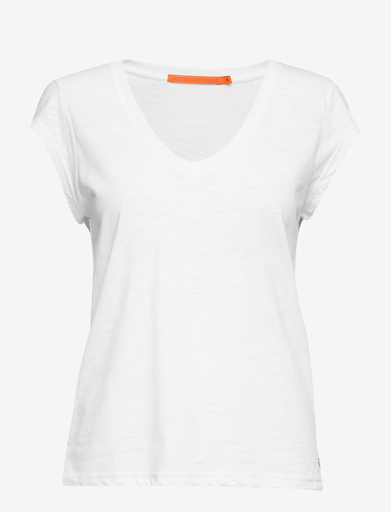 Coster Copenhagen - Basic tee w. v-neck - t-shirts - white - 0