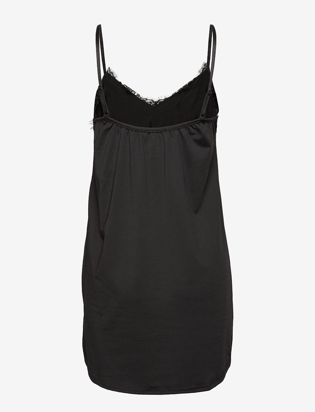 Coster Copenhagen - CC Heart lace slip dress (B5207) - body & sukienki - black - 1