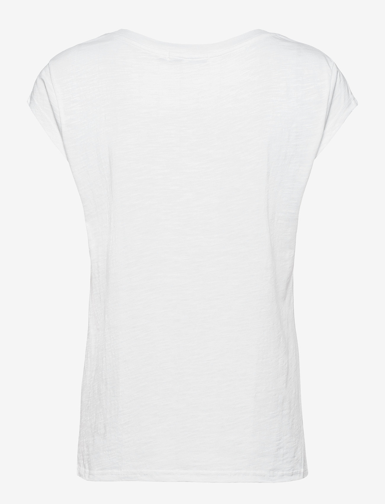 Coster Copenhagen - T-shirt with print and text in floc - t-shirts - white - 1